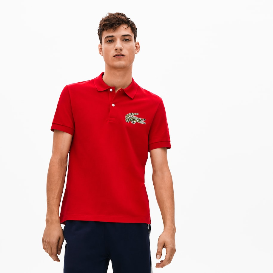 Men's Regular Fit Croco Magic Cotton Piqué Polo