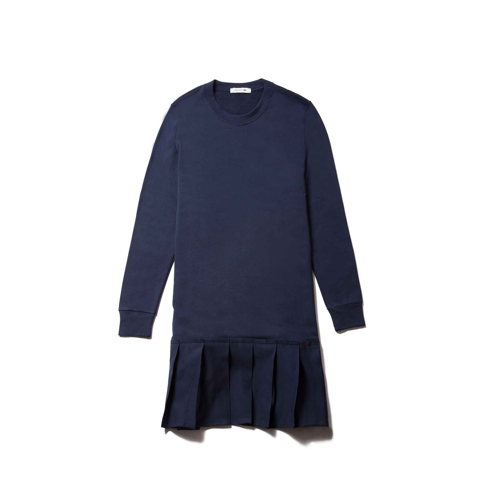 Women's Pleated Fleece Sweatshirt Dress