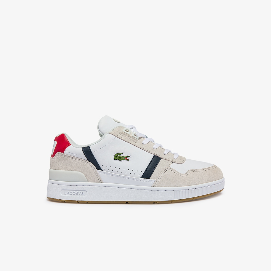 Men's T-Clip Tricolour Leather and Suede Trainers