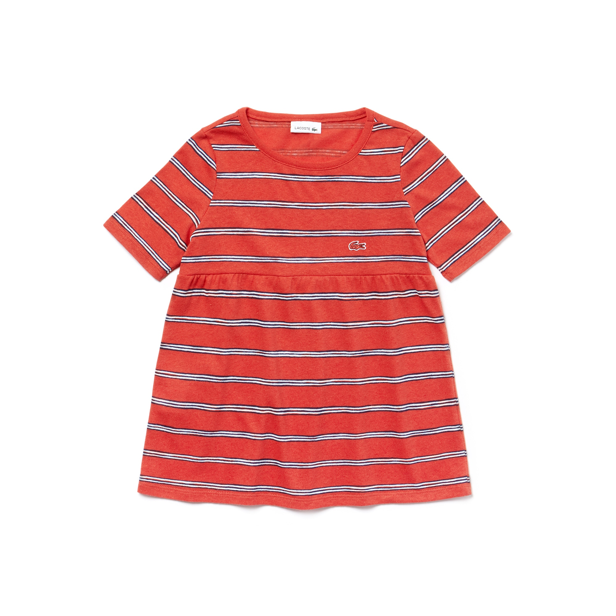 Girls' Striped Cotton And Linen T-Shirt
