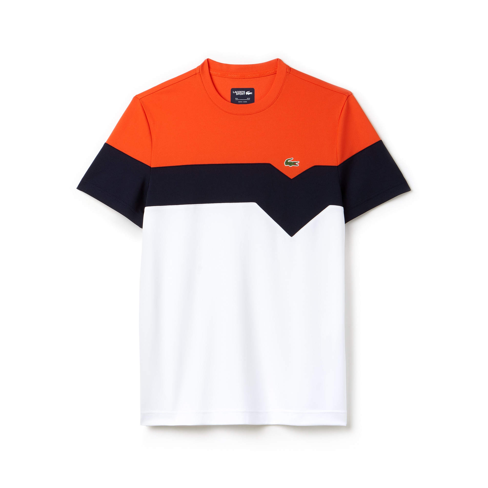 men 39 s lacoste sport tennis colorblock technical piqu t shirt lacoste. Black Bedroom Furniture Sets. Home Design Ideas