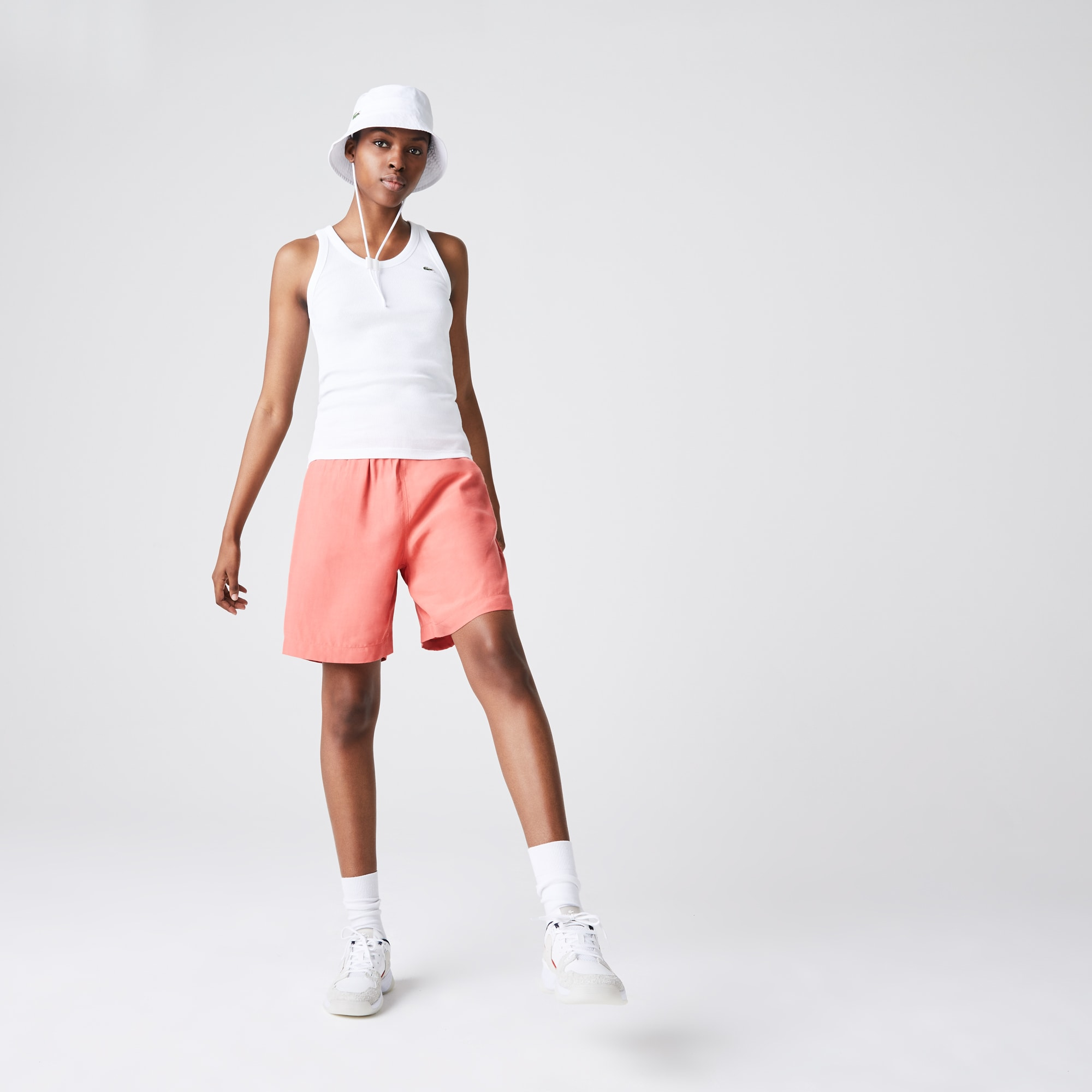라코스테 Lacoste Women's Sleeveless Scoopneck Top