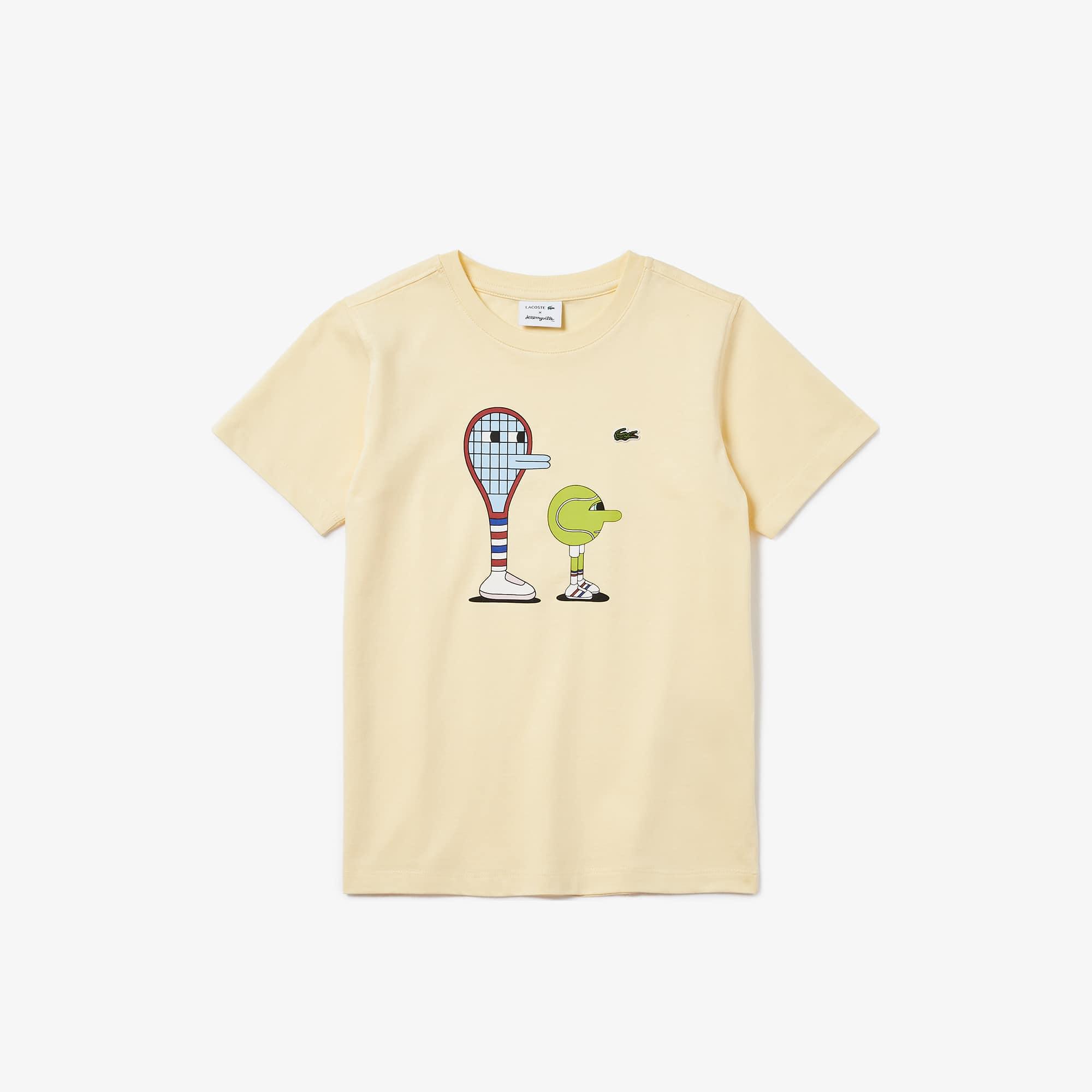 라코스테 x 제레미빌 콜라보 반팔티 (남아용) Lacoste x Jeremyville Graphic Crew Neck Cotton T-shirt,Yellow - YZJ