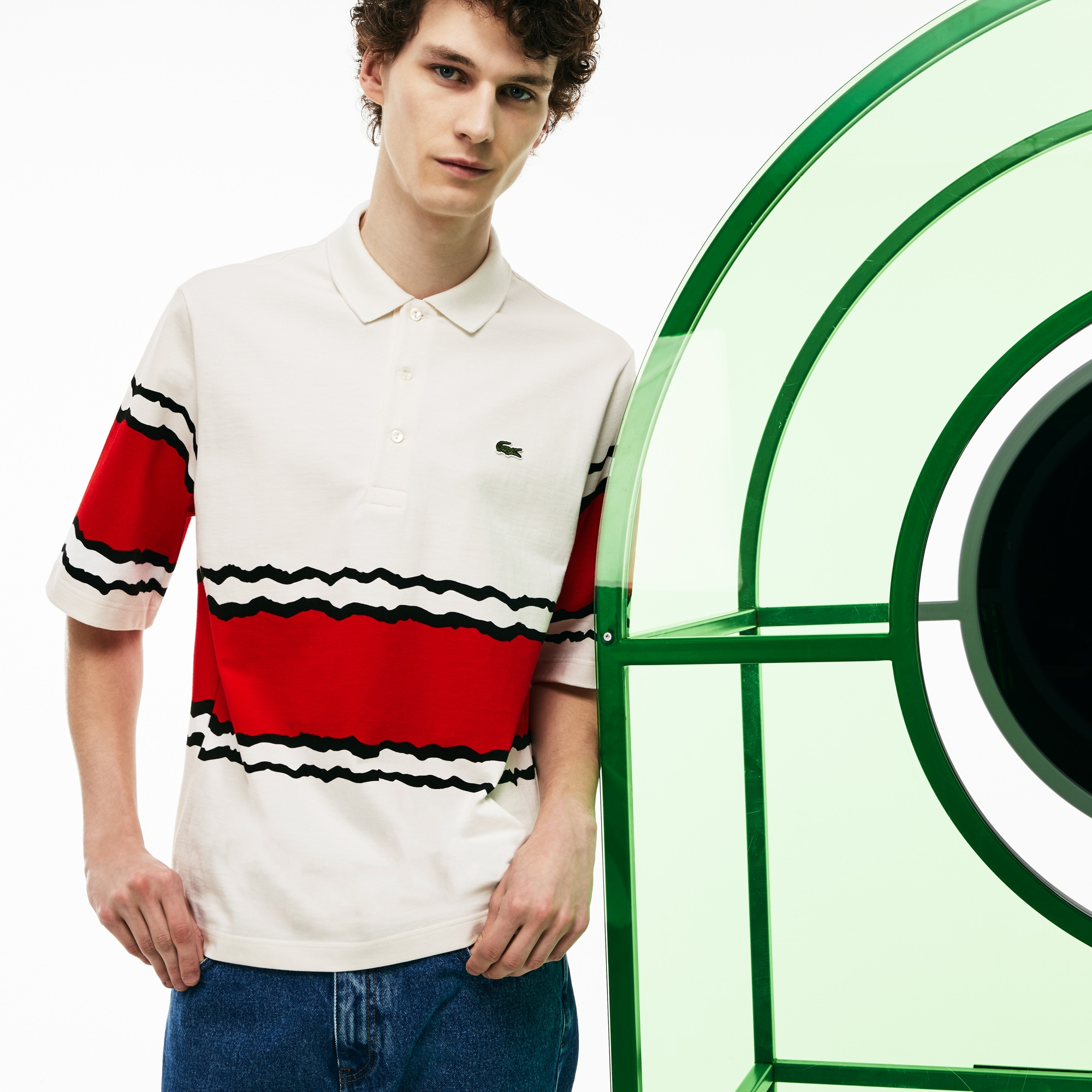 Men's Fashion Show Thick Striped Polo