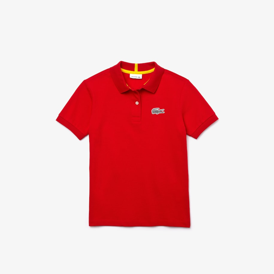 Girls' Lacoste x National Geographic Cotton Piqué Polo Shirt