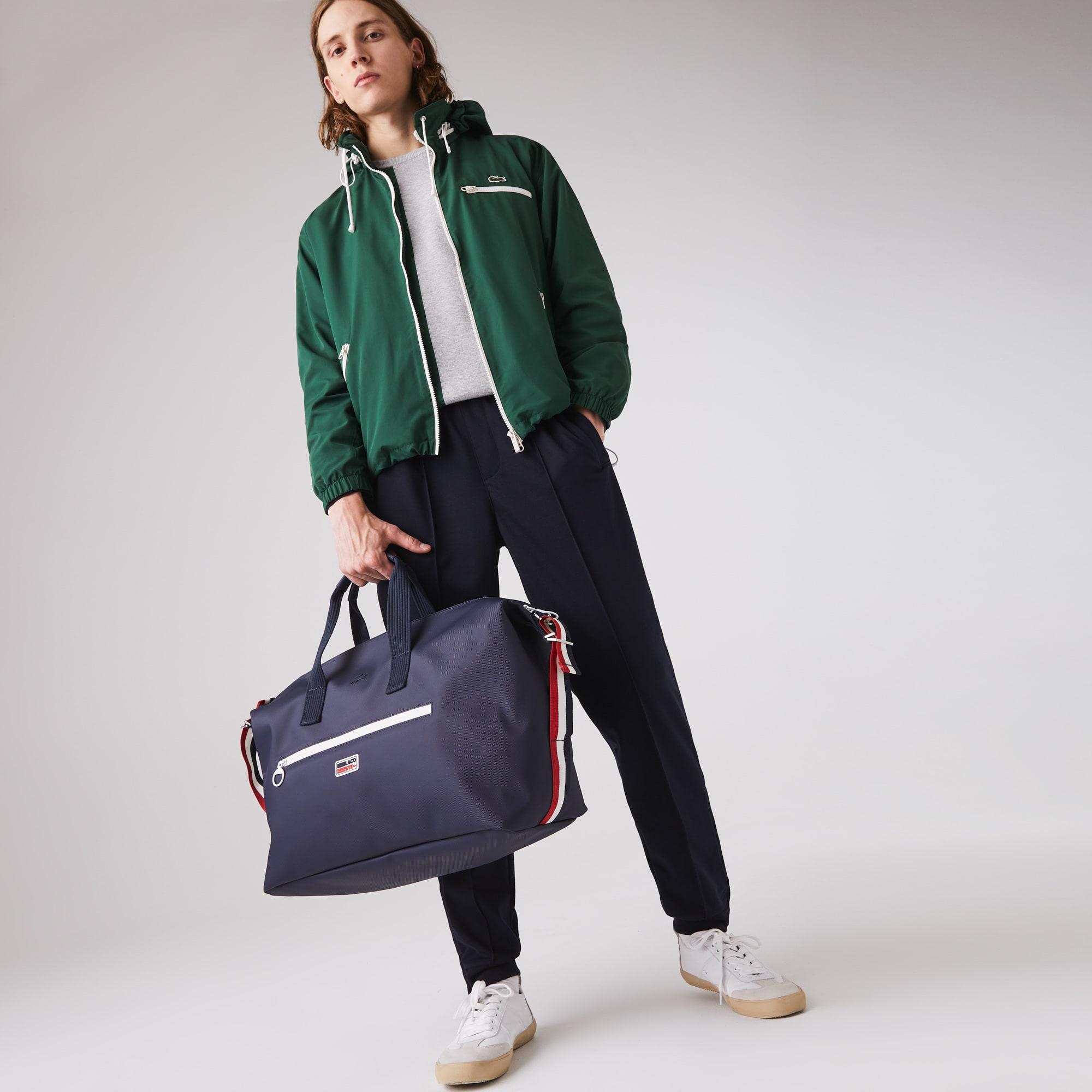 라코스테 클래식 위켄더백 Lacoste Mens Classic Tricolour Accents Weekender Bag,ECLIPSE BLANC ROUGE F94