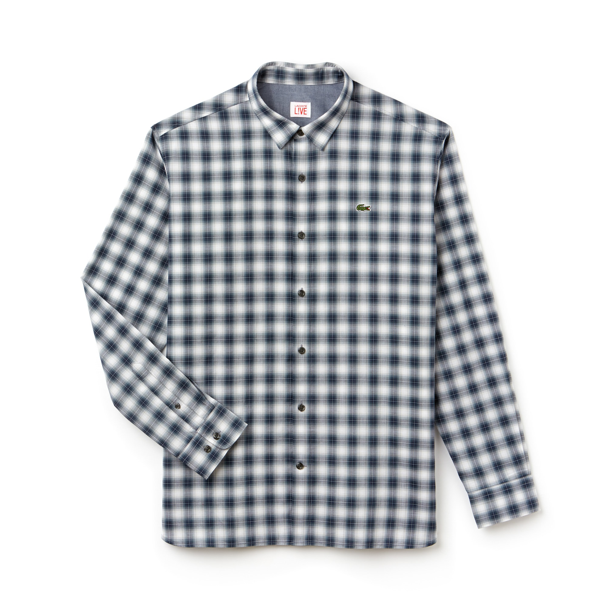 Men's LIVE Boxy Fit Check Poplin Shirt