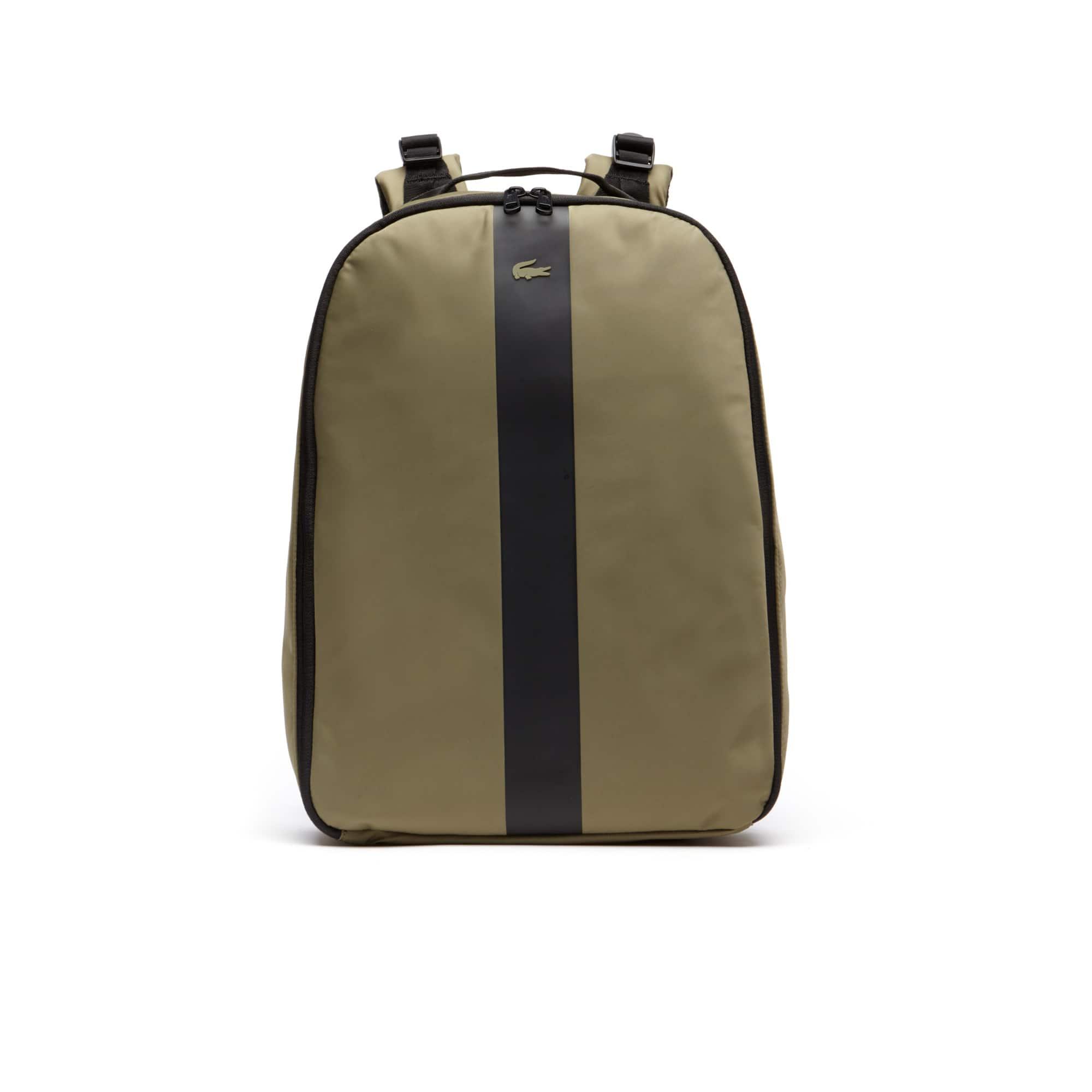 라코스테 백팩 Lacoste Mens Urban Trek Contrast Band Nylon Backpack,MILITARY OLIVE