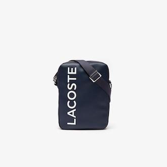라코스테 시그니처 가죽 버티칼백 Lacoste Mens L1212 Signature Leather Vertical Bag,ECLIPSE
