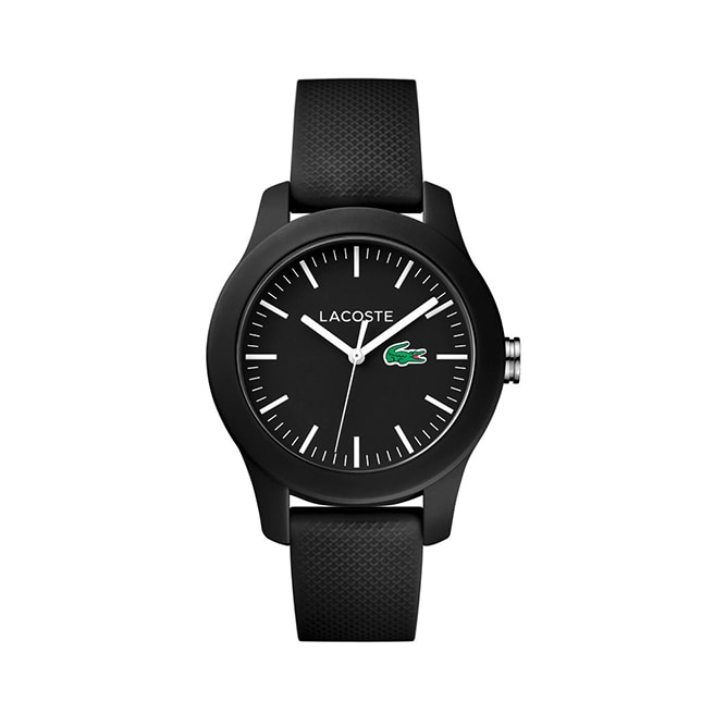 Women's Lacoste 12.12 Black Rubber Strap