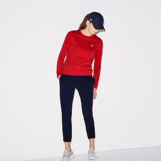 라코스테 우먼 스포츠 테니스 스웻팬츠 트레이닝복 Lacoste Womens SPORT Technical Midlayer Urban Tennis Sweatpants,Navy Blue