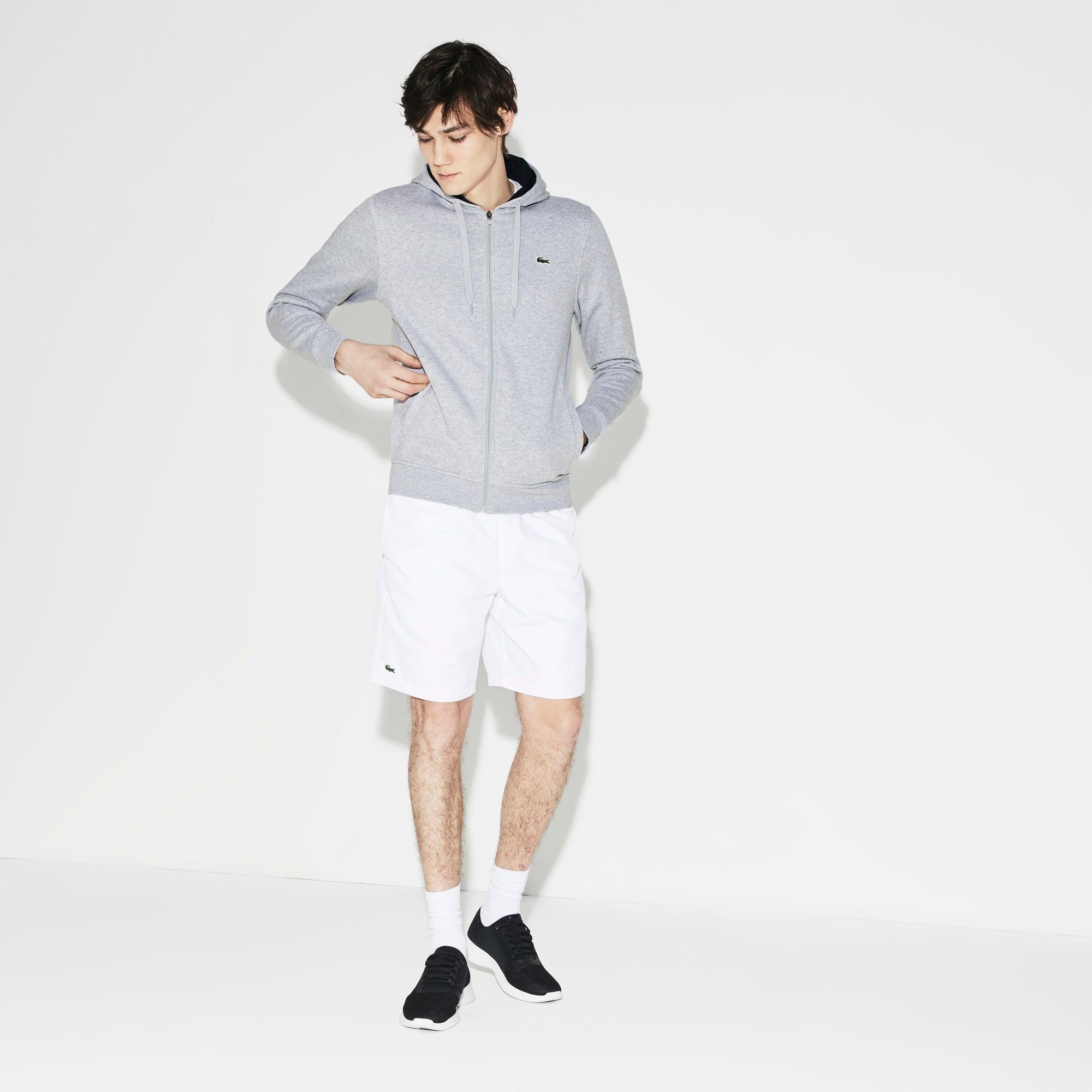 Men's SPORT Tennis hooded zippered sweatshirt in fleece