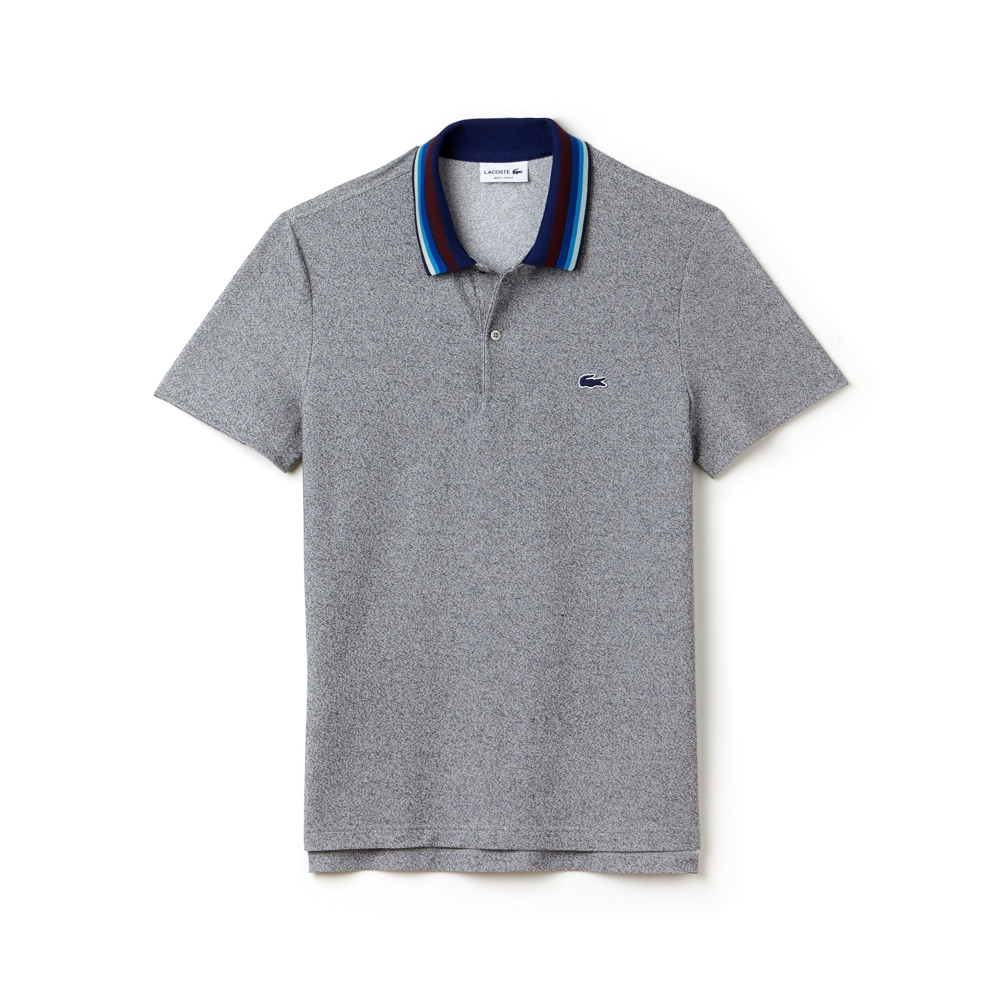 Men's  Regular Fit Piped Cotton Piqué Polo