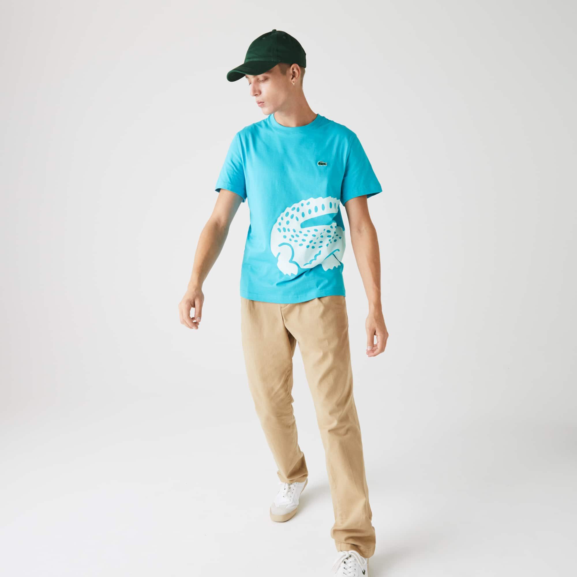 Lacoste Men's Oversize Croc Crew Neck Jersey T-shirt