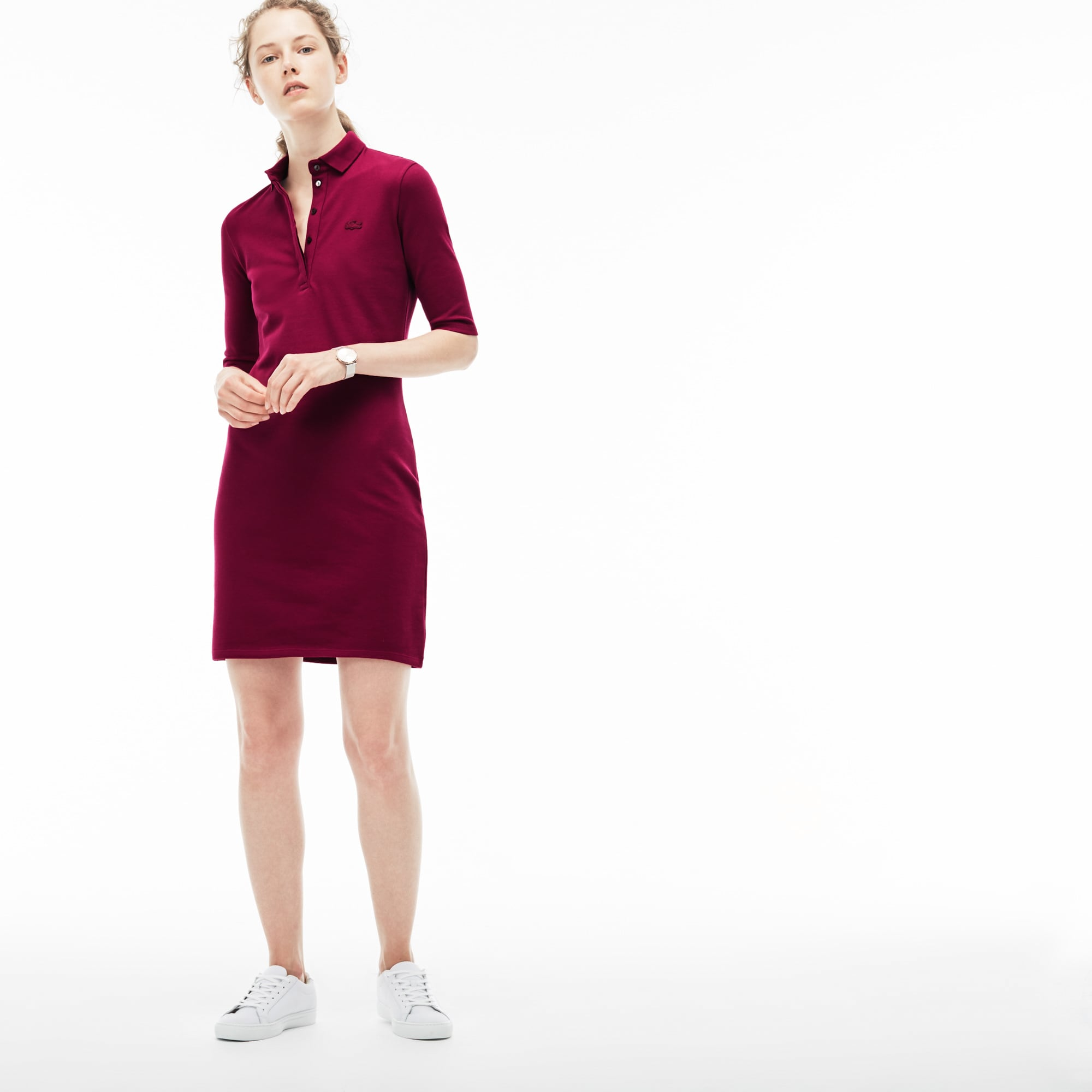 Women's Stretch Cotton Piqué Polo Dress
