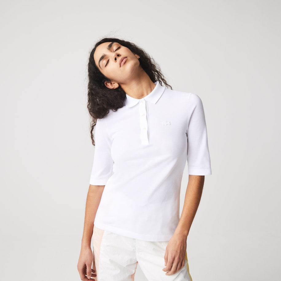 Women's Lacoste Slim Fit Supple Cotton Polo