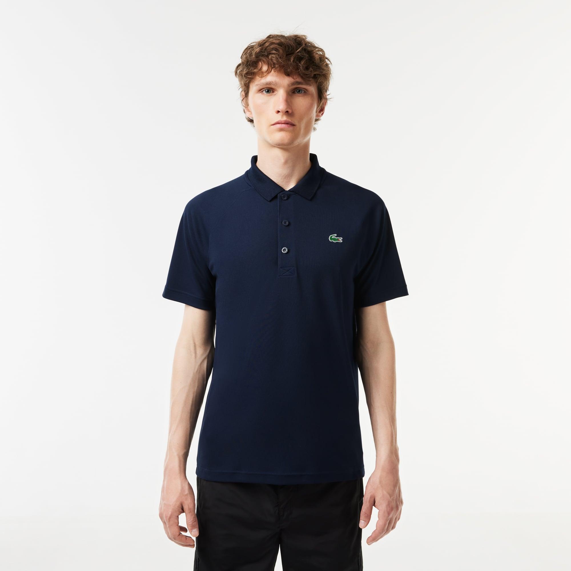Lacoste Mens SPORT Breathable Run-Resistant Interlock Polo Shirt