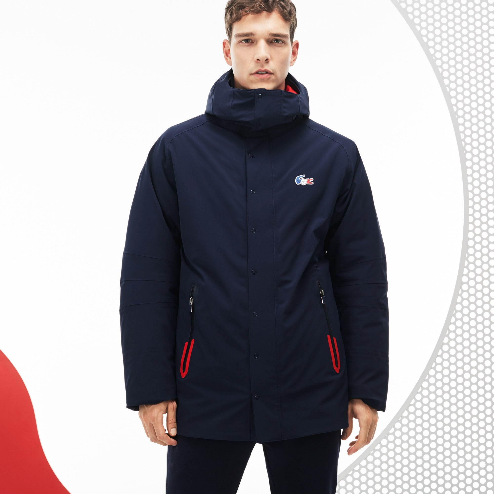 Men's  French Sporting Spirit Edition Reversible Quilted Parka