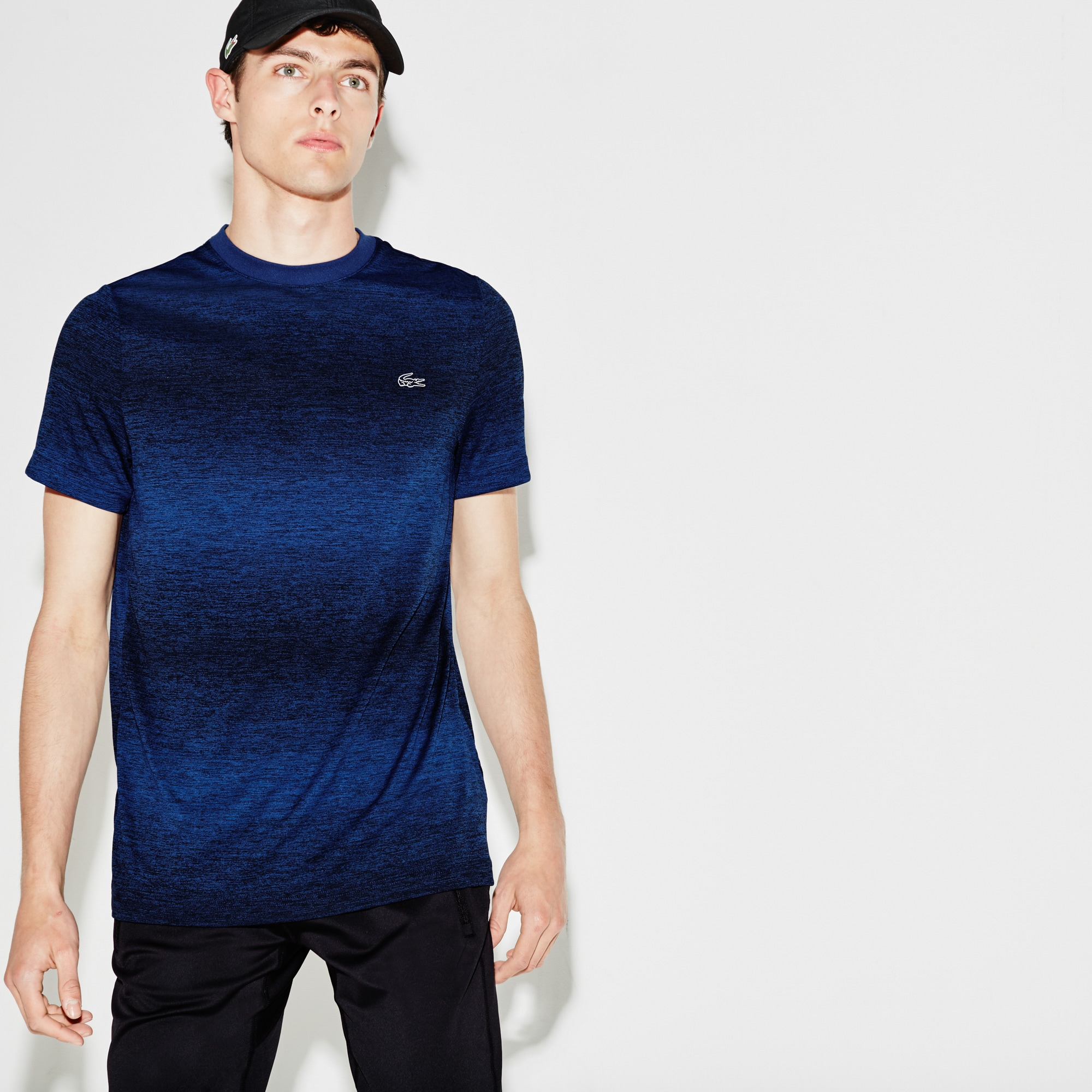 Men's  SPORT Tennis Crew Neck Tech Jersey & Mesh T-shirt