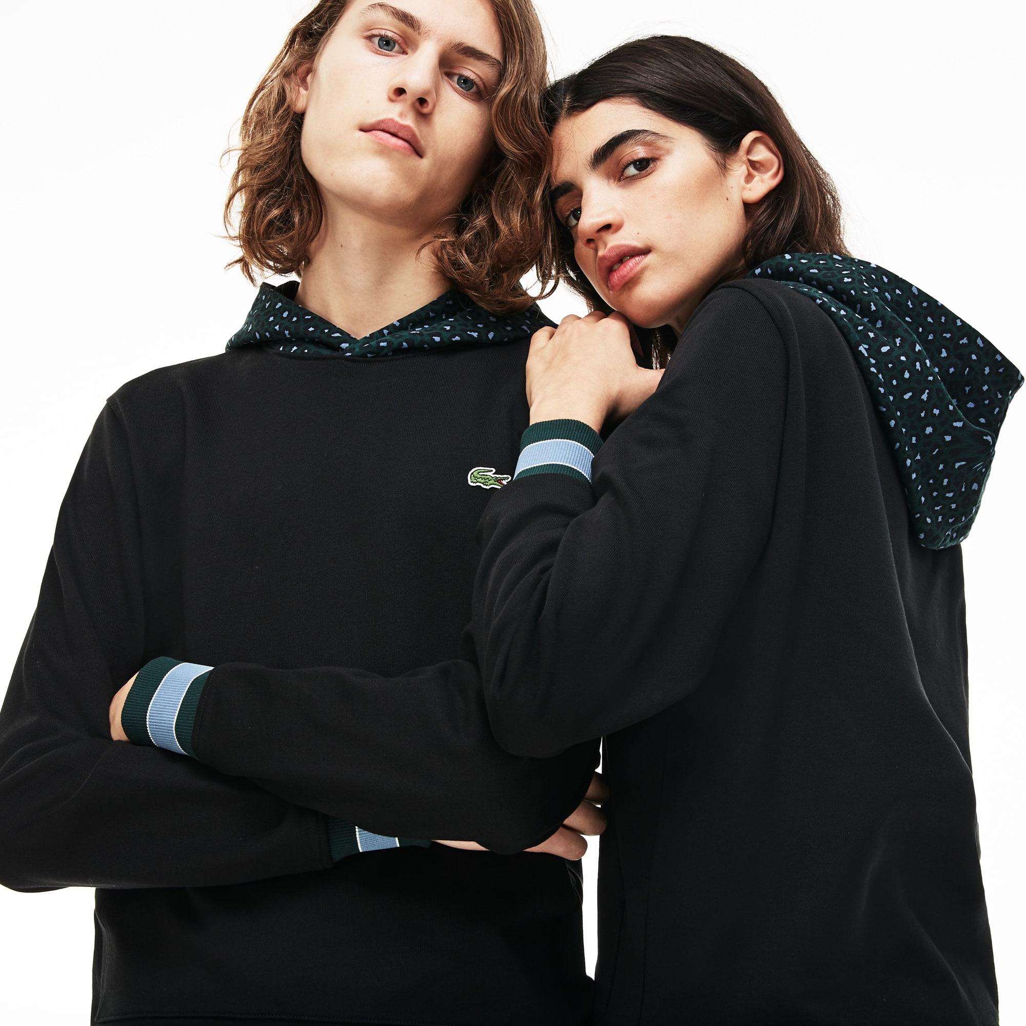 Men's LIVE Leopard Print Hood Fleece Sweatshirt
