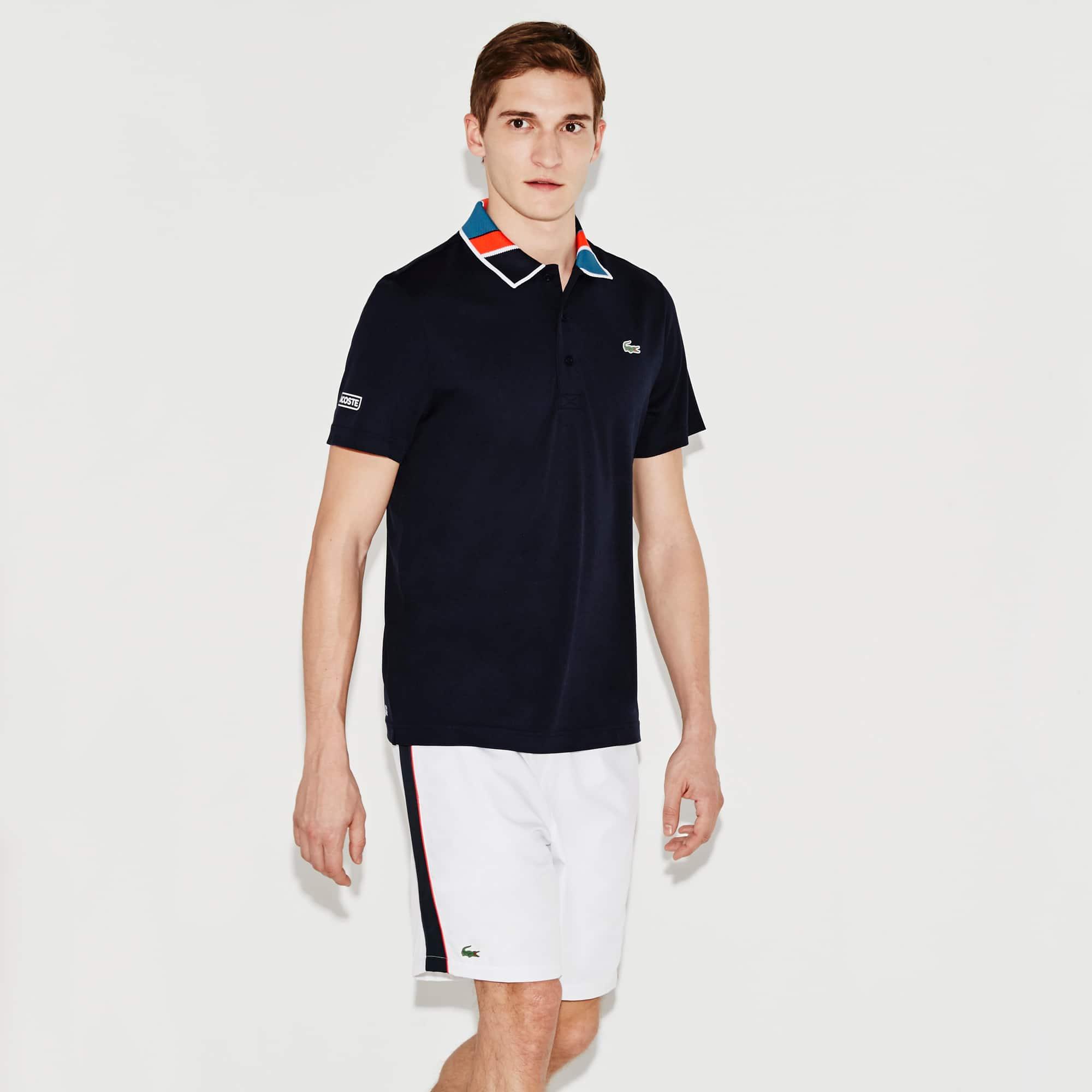 Men's SPORT Print Neck Technical Piqué Tennis Polo