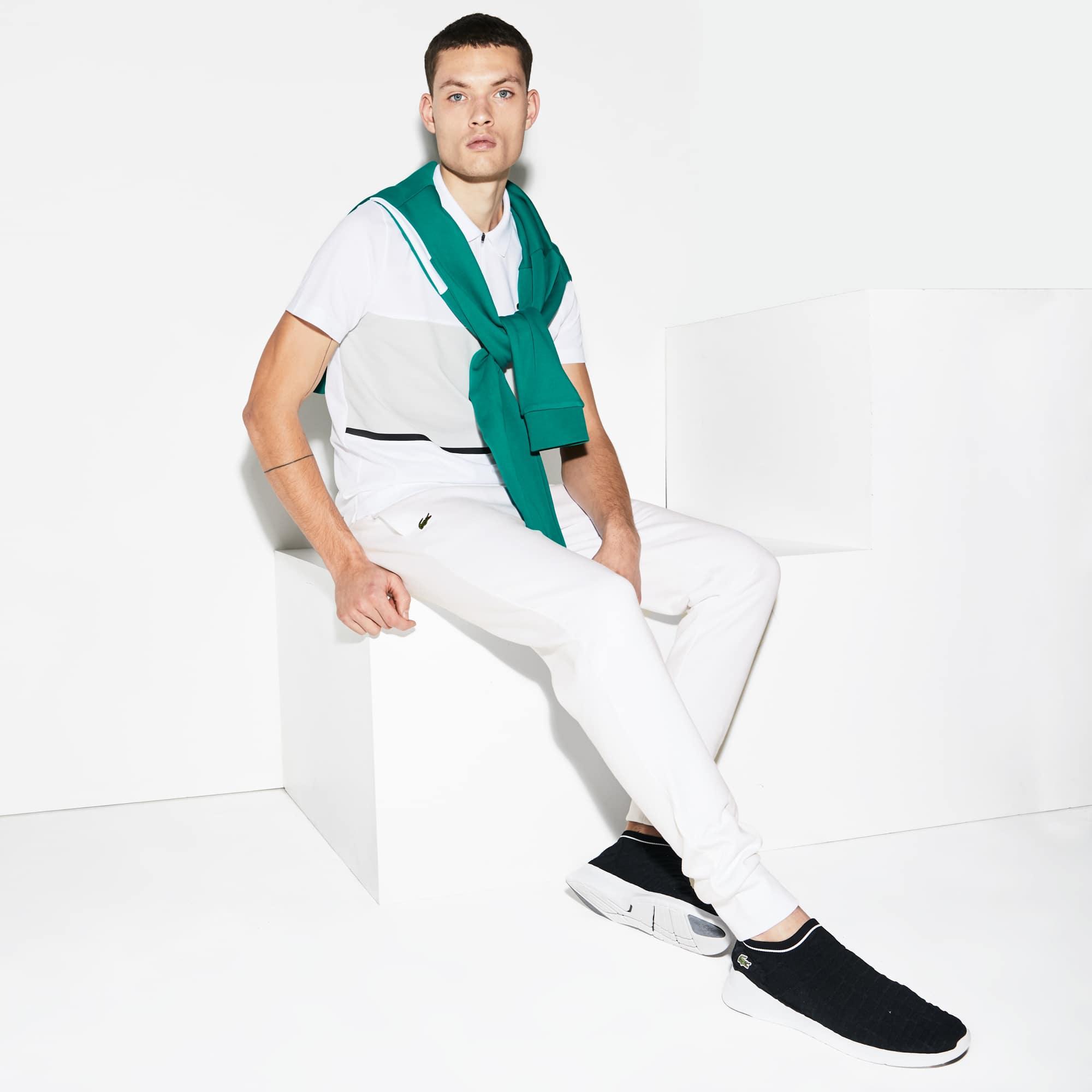 라코스테 Lacoste Men's SPORT Fleece Jogging Pants,White - 001