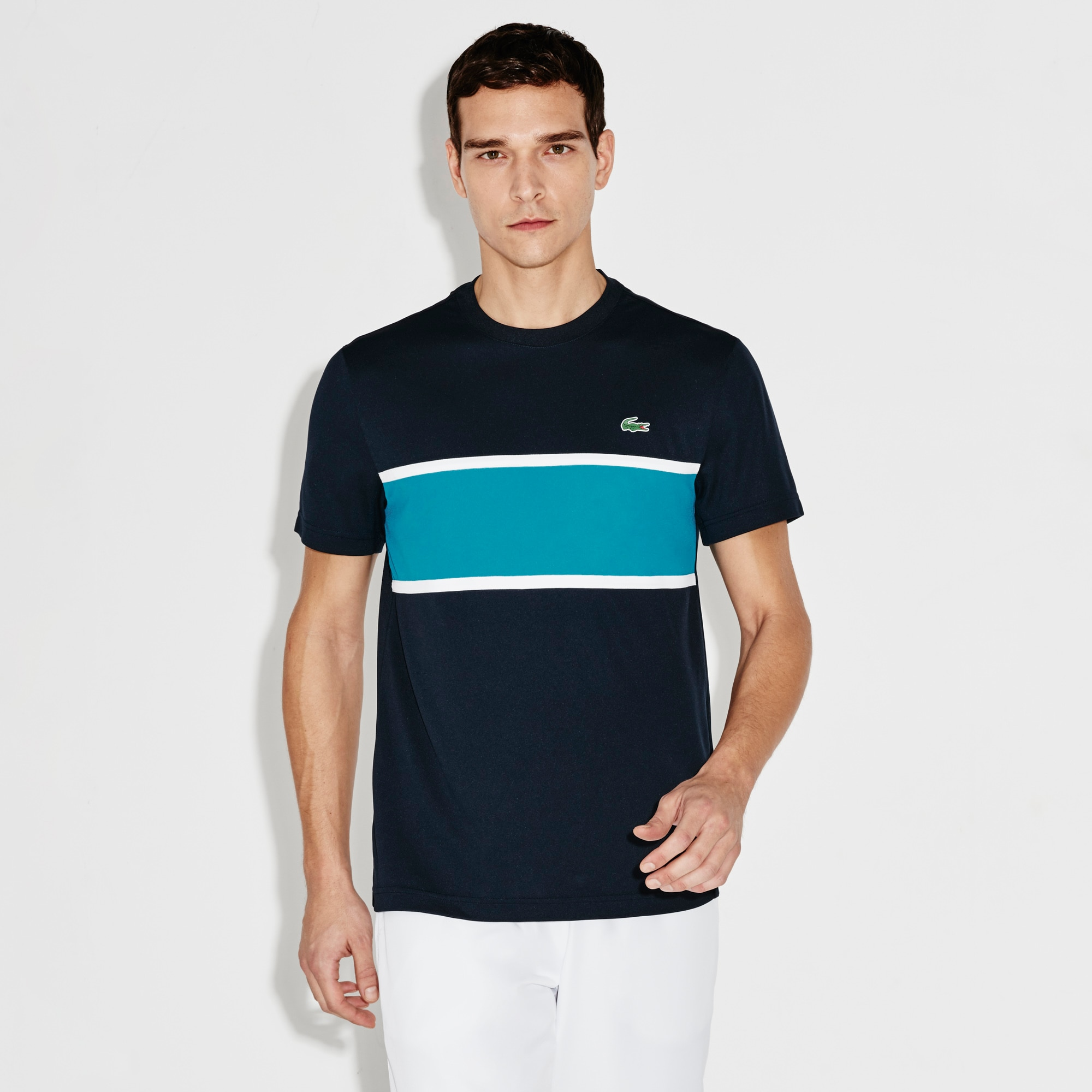 Men's SPORT Run-Resistant Colorblock Tennis Polo