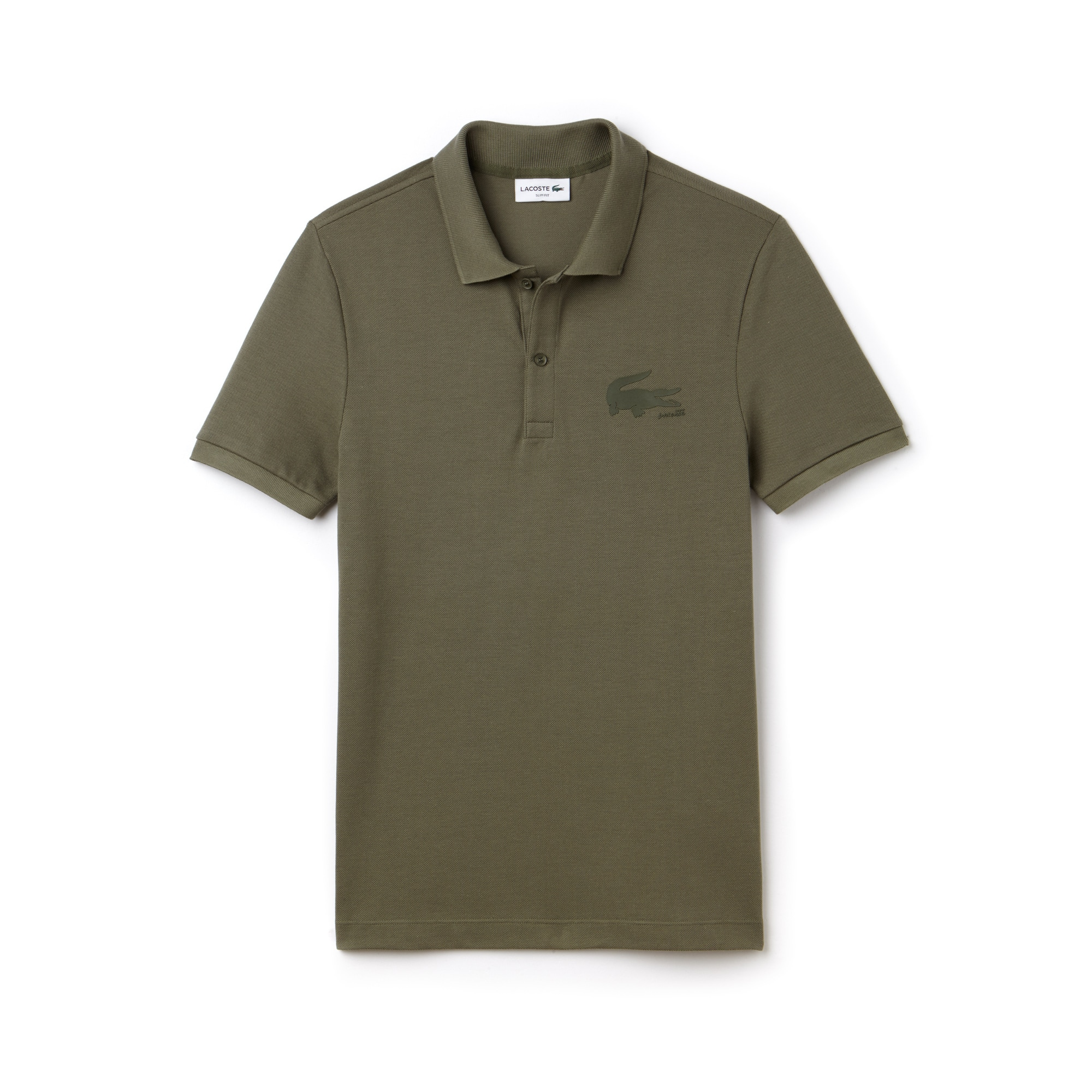 Men's Slim Fit Crocodile Logo Piqué Polo