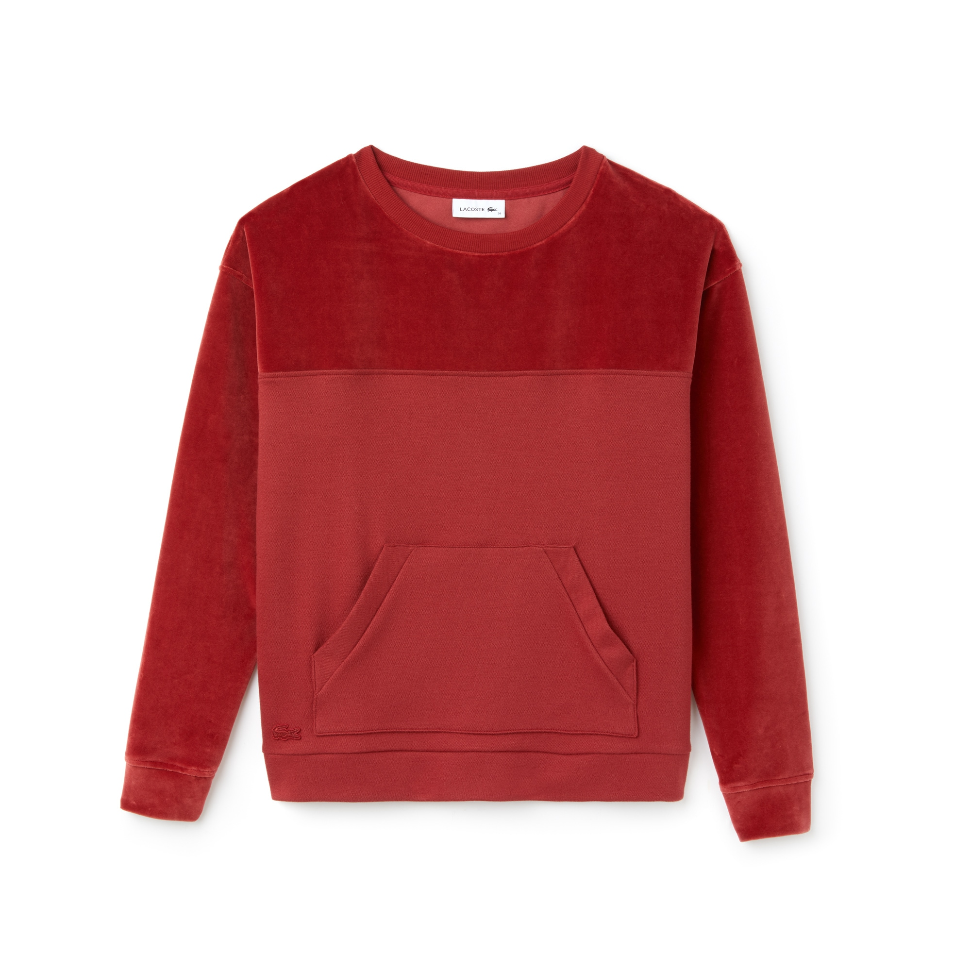 Women's Crew Neck And Velour Sweatshirt