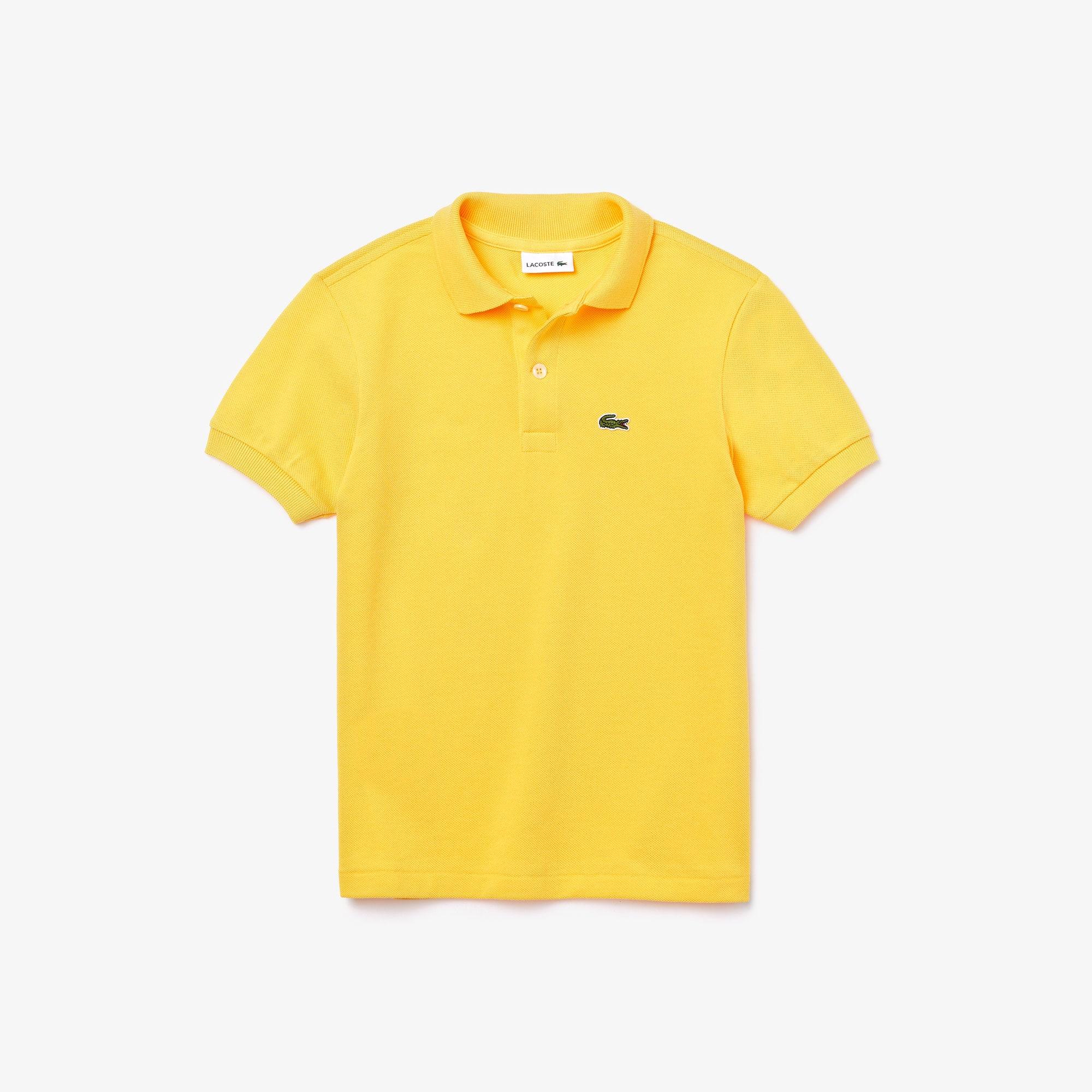 라코스테 보이즈 클래식 피케 폴로셔츠 - 옐로우 Lacoste Boys' Classic Pique Polo