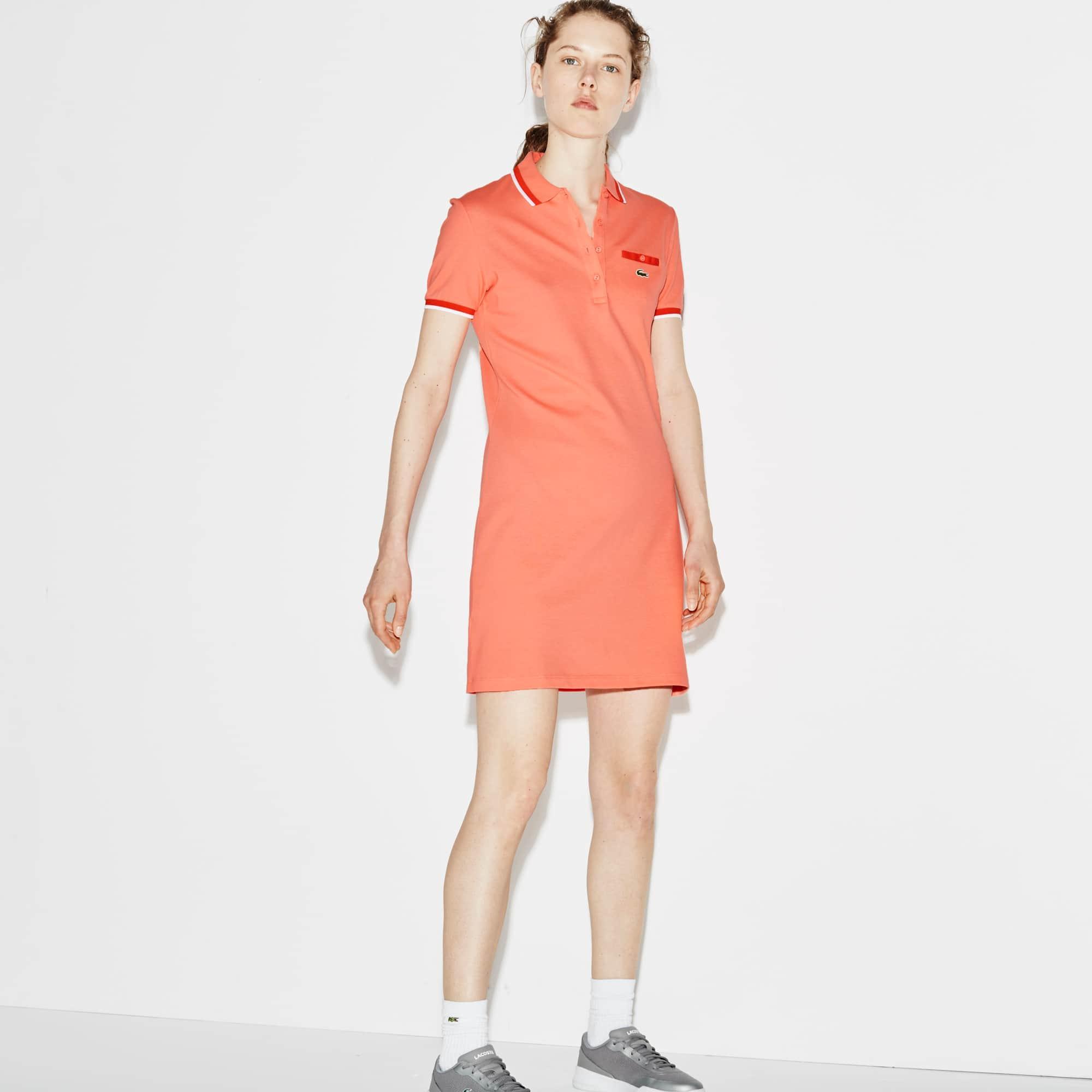 Women's SPORT Stretch Petit Piqué Polo Dress