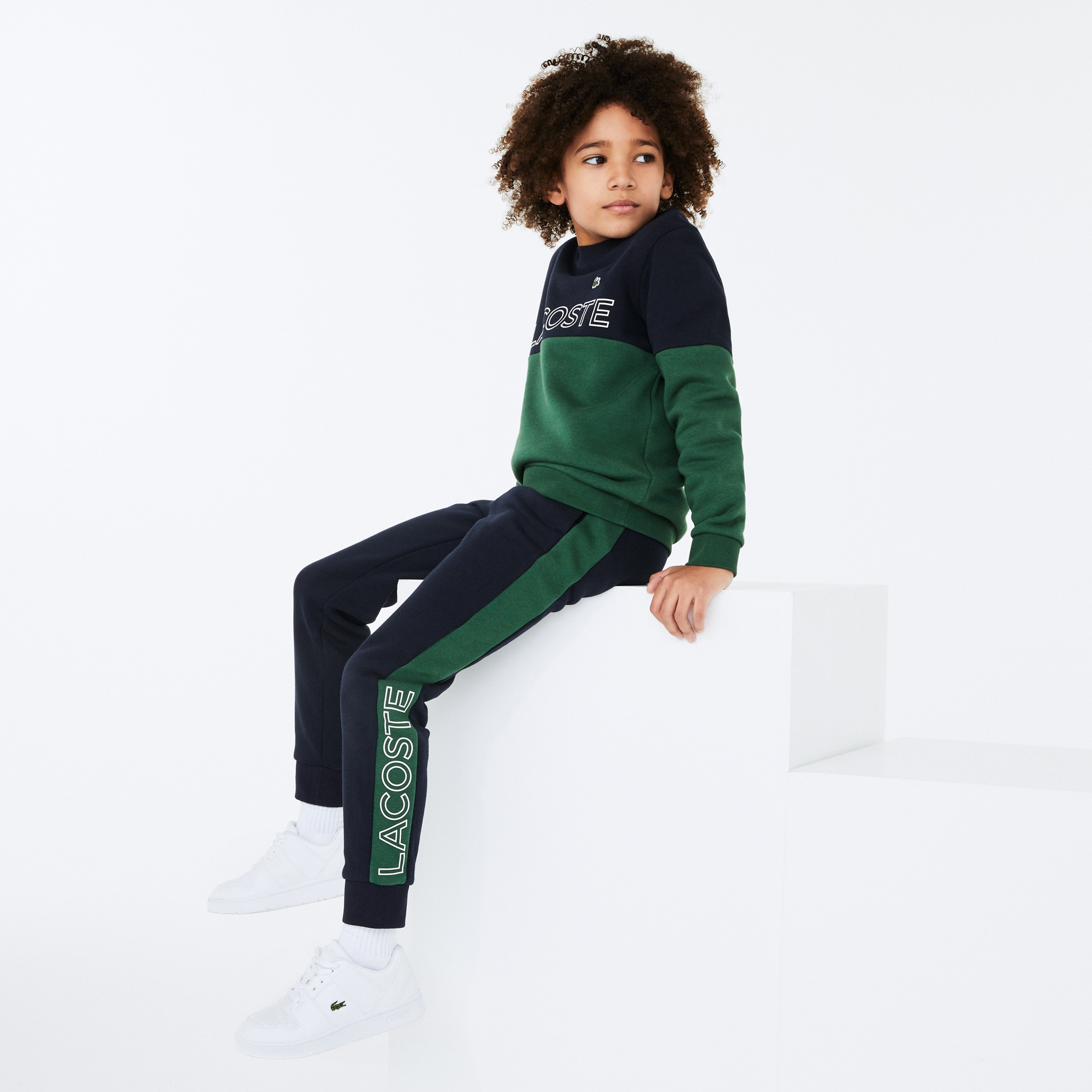 Boys' 라코스테 Lacoste SPORT Colourblock Fleece Trackpants