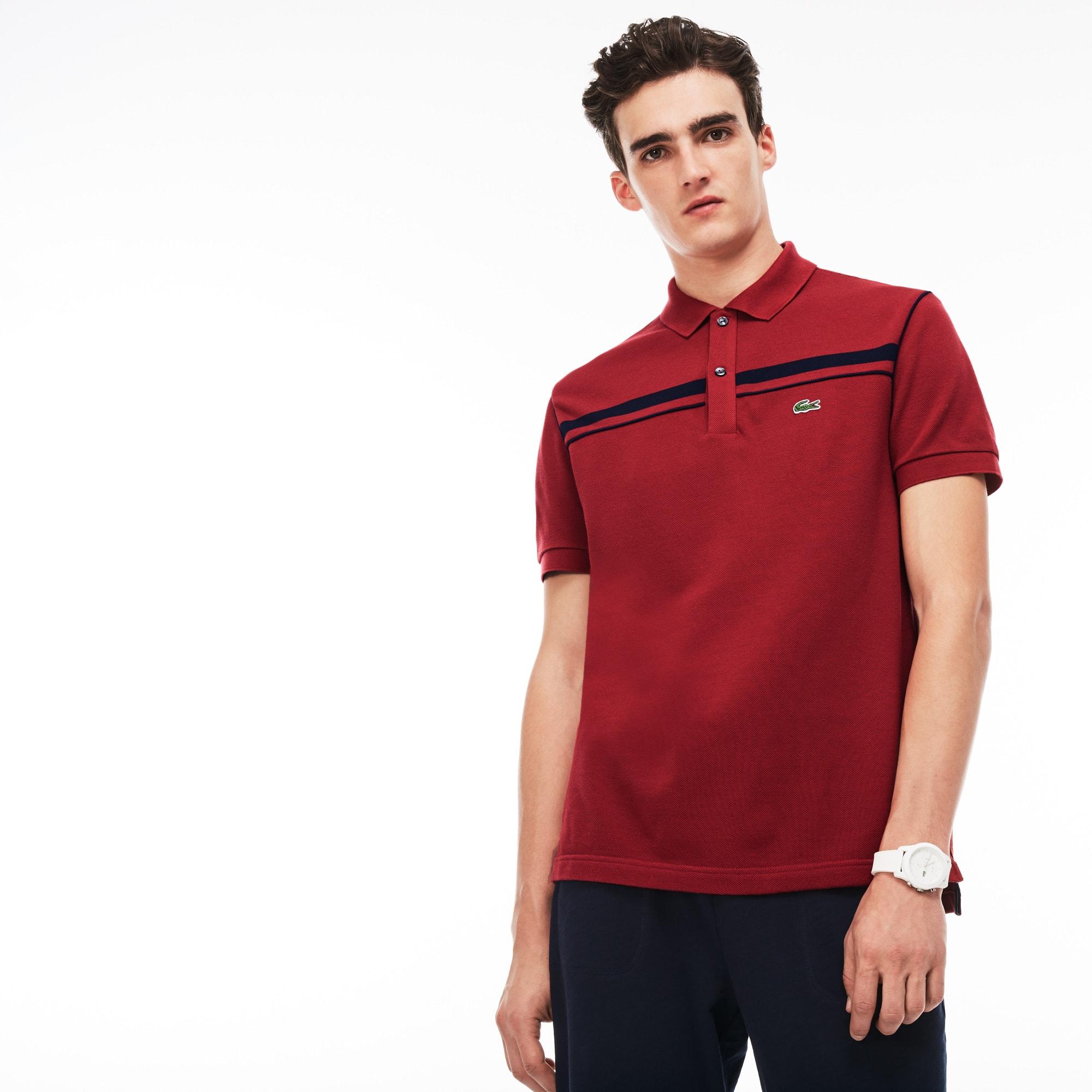 Men's Regular Fit Contrast Piqué Polo