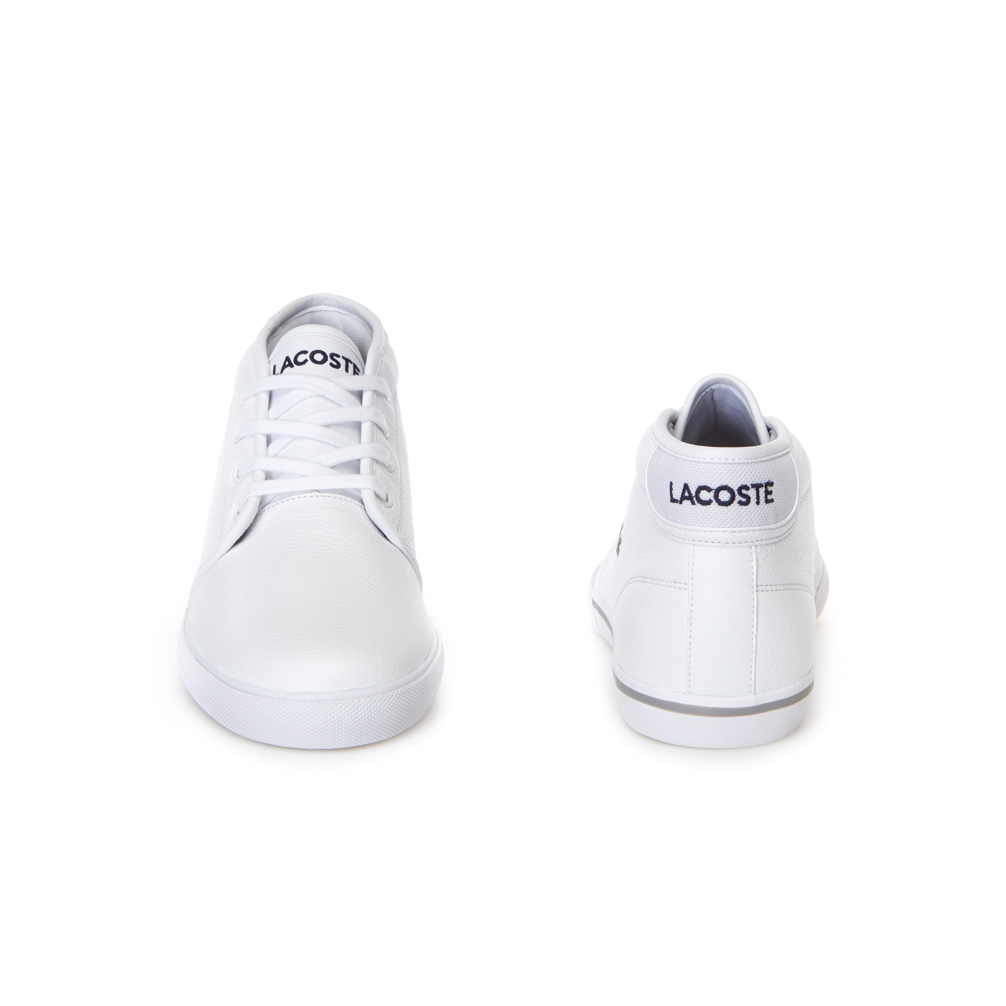 Ampthill Leather Mid Sneakers   LACOSTE