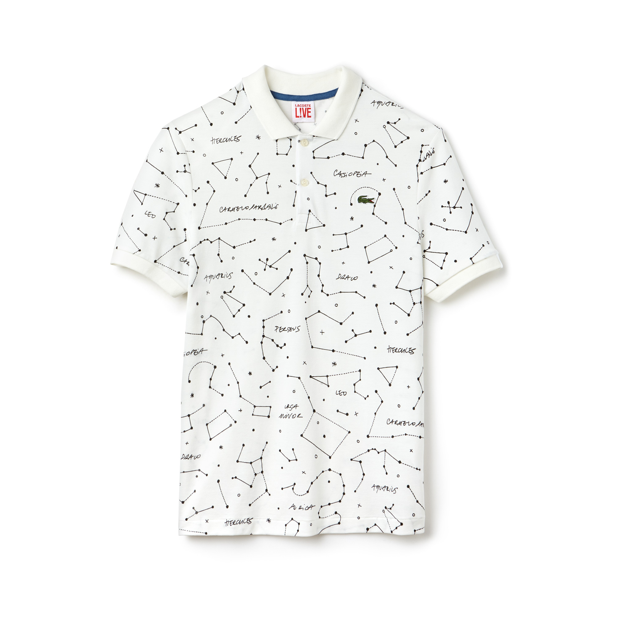 Men's Lacoste LIVE Regular Fit Constellation Print Mini Piqué Polo