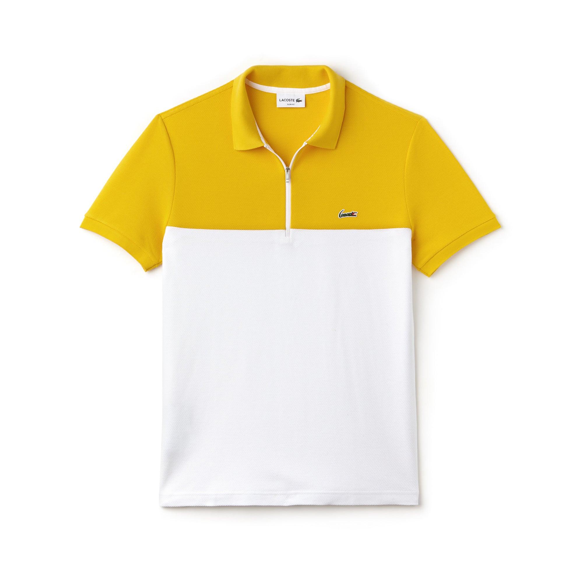Men's Slim Fit Honeycomb Polo