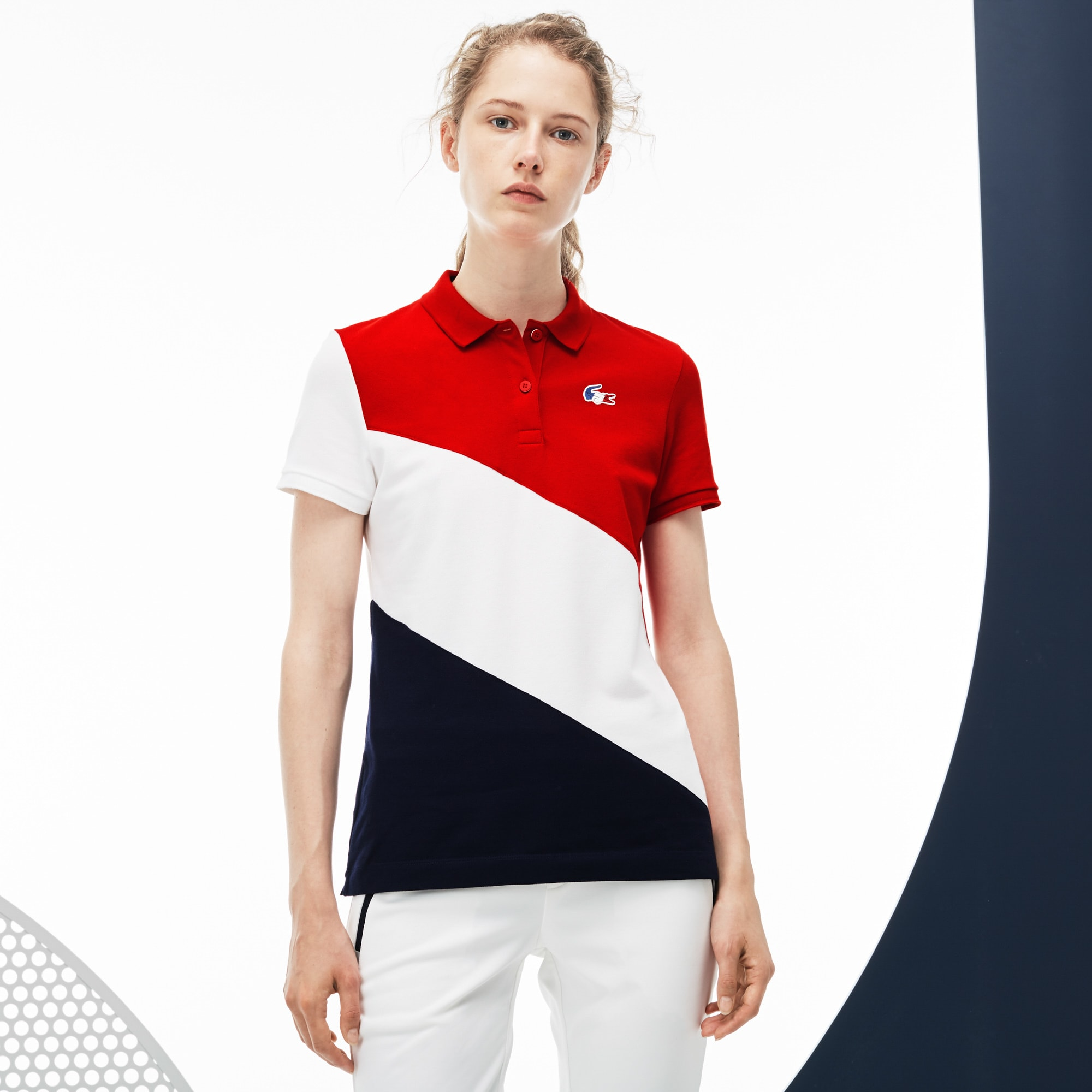 Women's  French Sporting Spirit Edition Colorblock Mini Piqué Polo