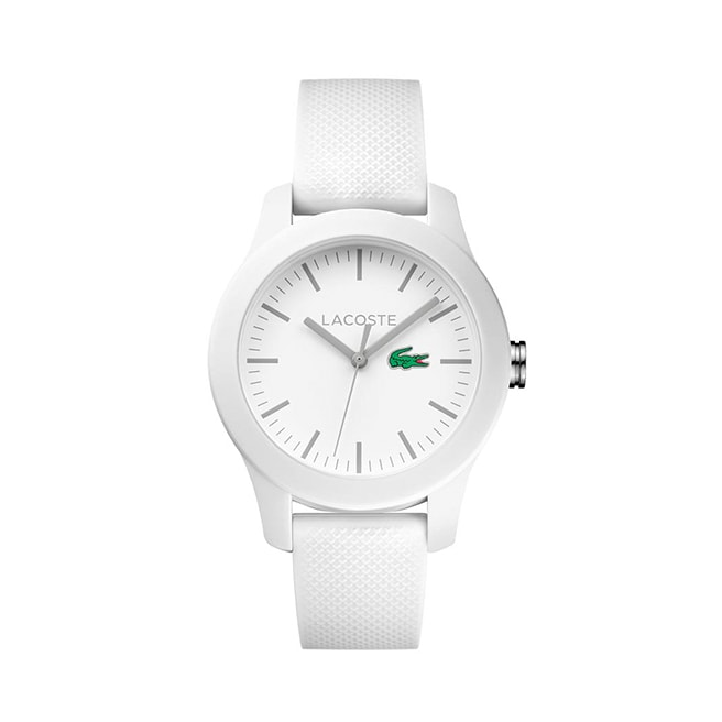 Women's Lacoste 12.12 White Rubber Strap