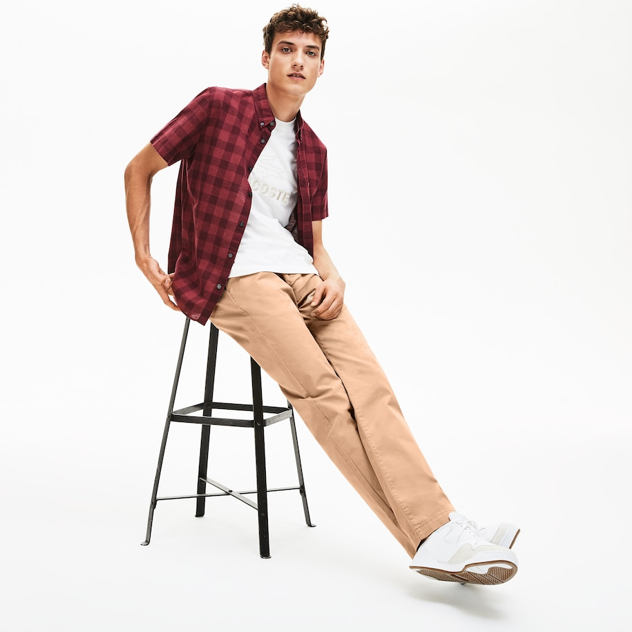Men's Regular Fit Stretch Cotton Chinos