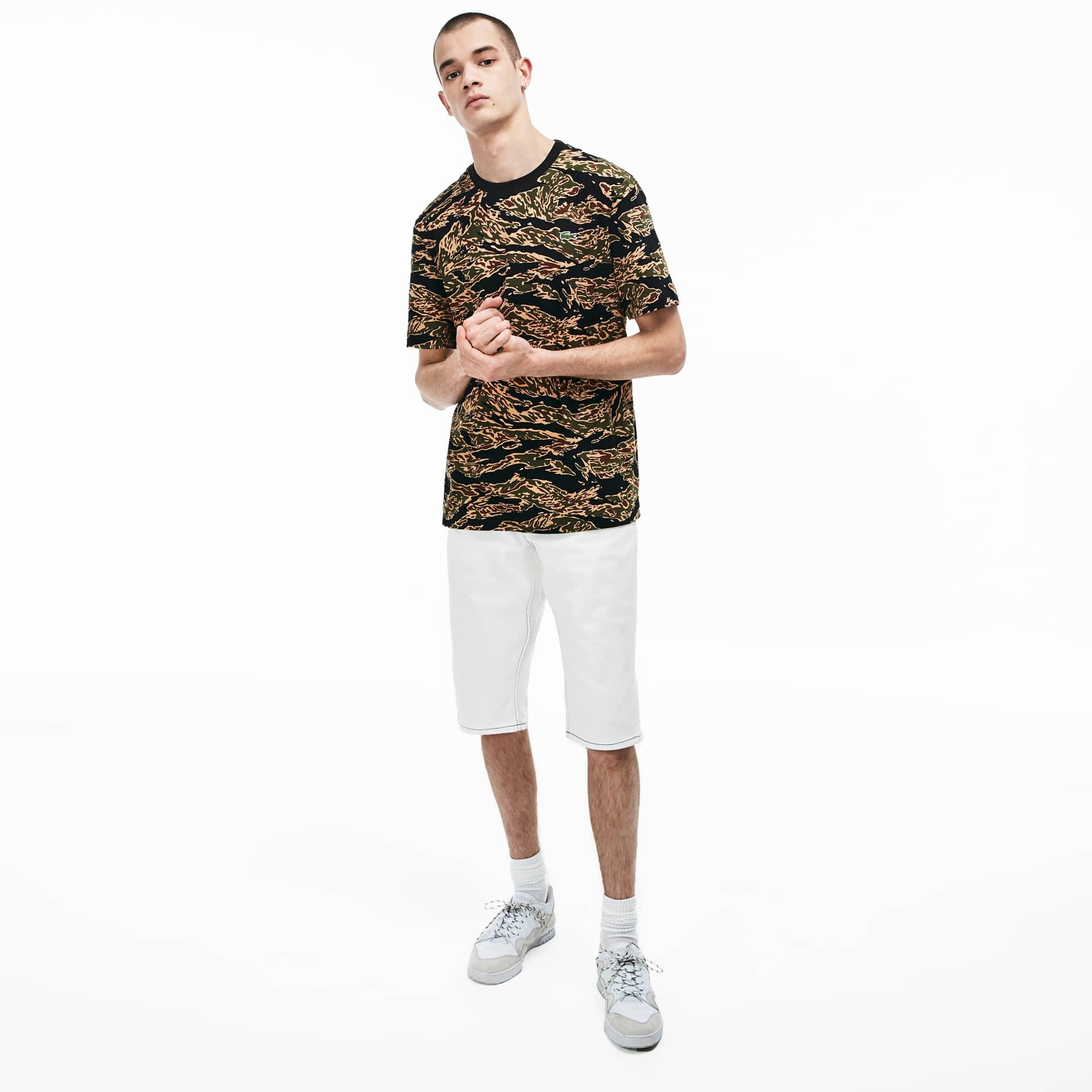 465b21f3f6 Men's LIVE Crew Neck Cotton T-shirt