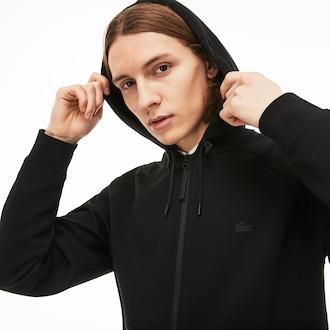 Mens 라코스테 Lacoste Motion Fleece Sweatshirt,Black