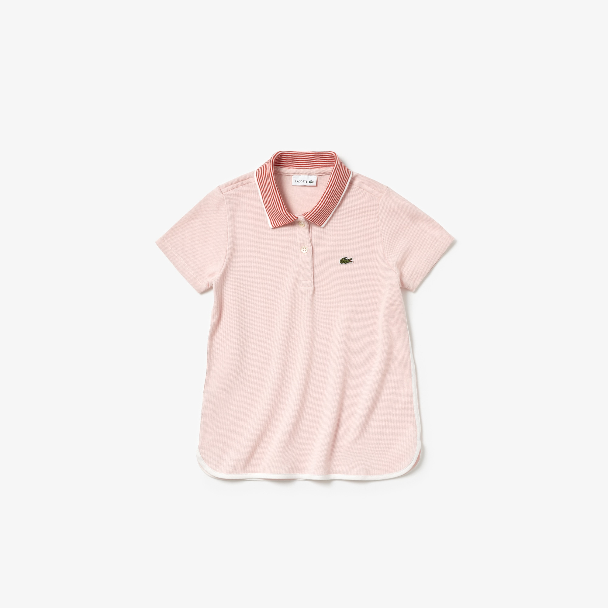 Girls' Lacoste Colorblock Petit Piqué Polo Shirt