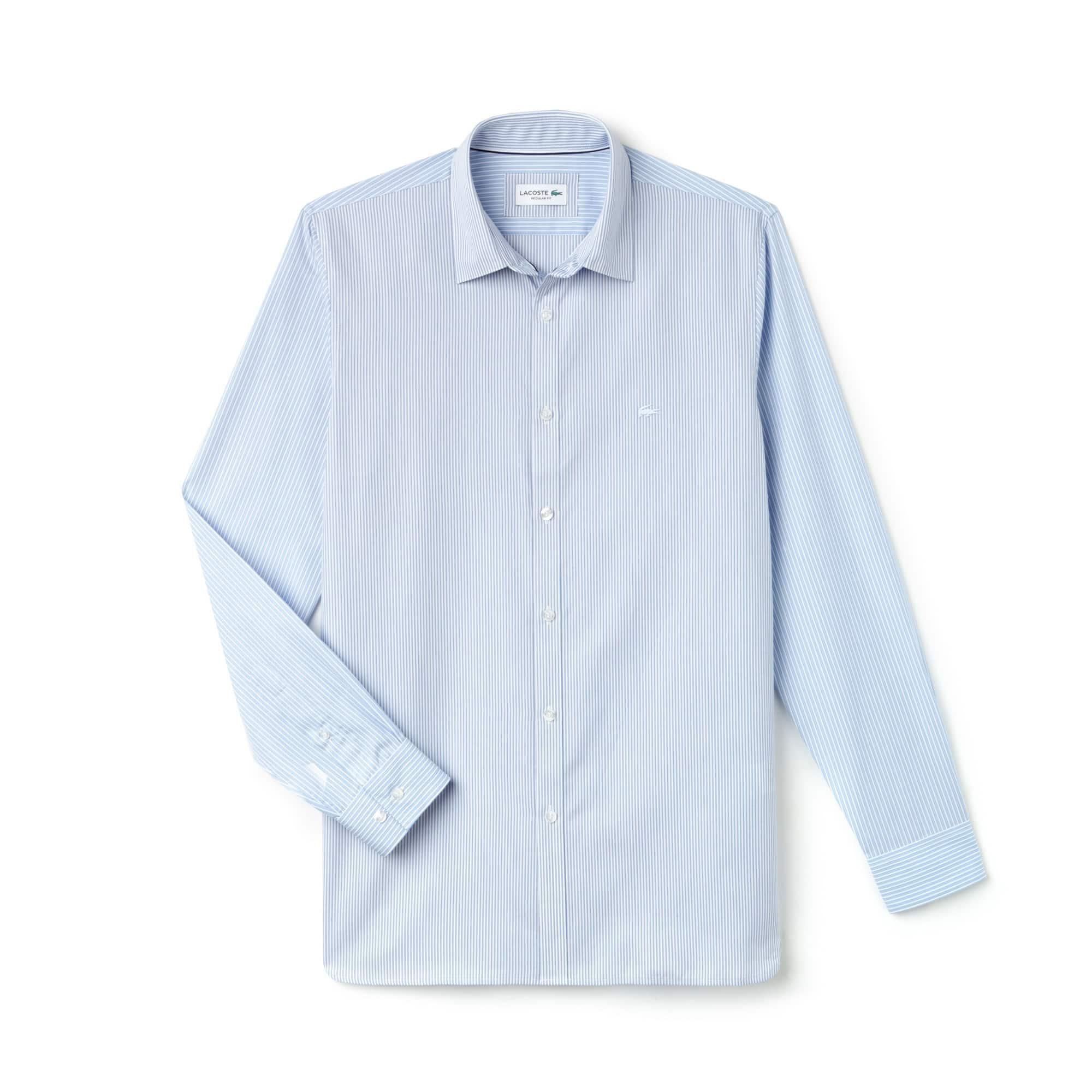 Men's Regular Fit Patchwork Poplin Shirt