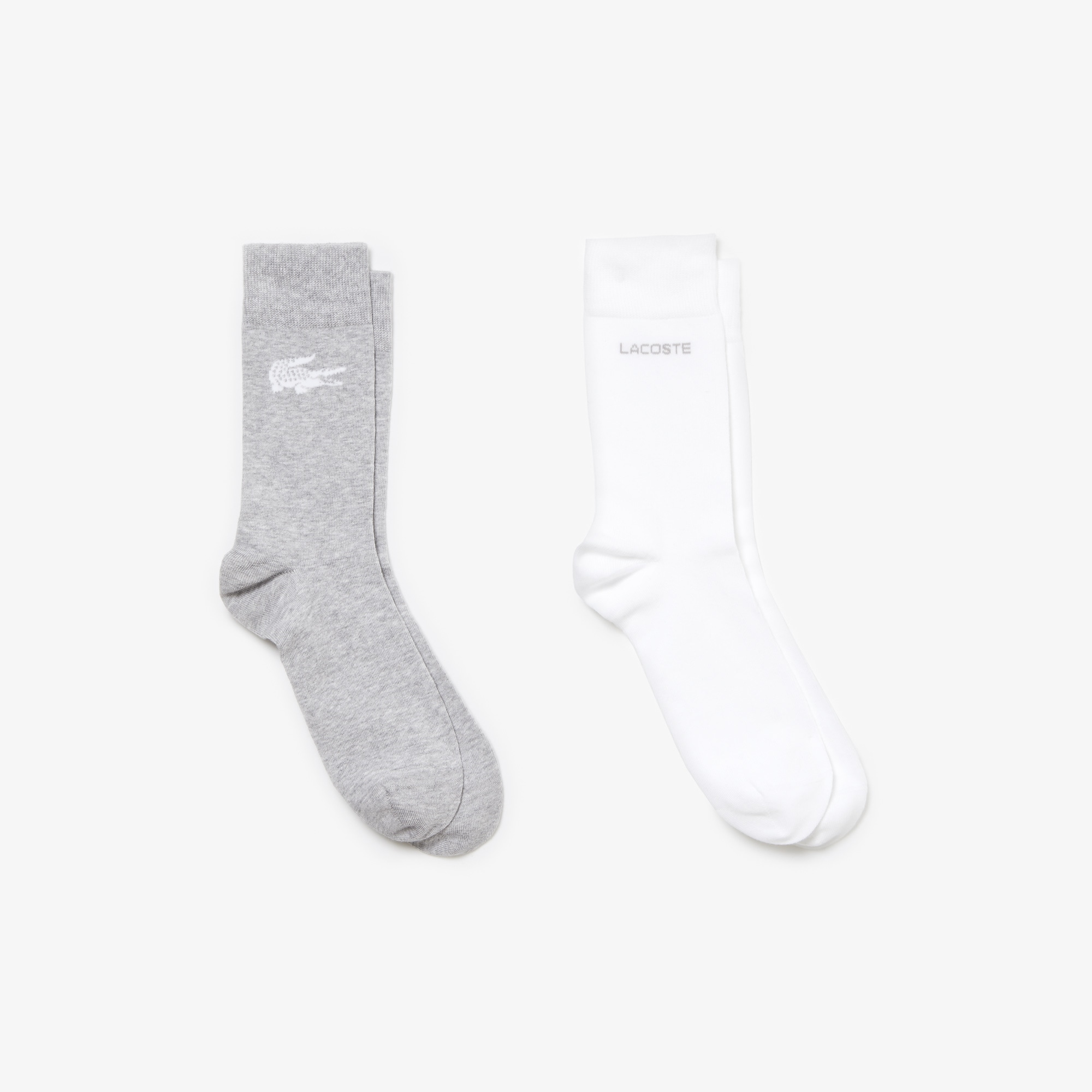 Two-pack of coordinated socks in print jersey