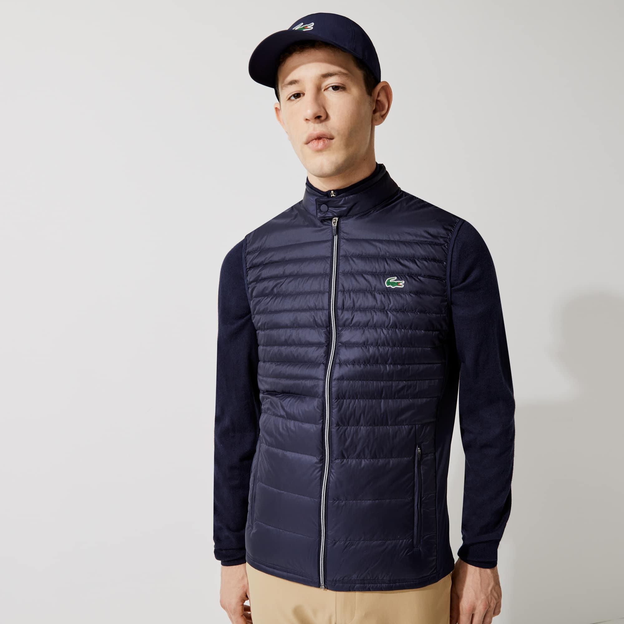 라코스테 스포츠 퀼팅 조끼 Lacoste Mens SPORT Lightweight Water-Resistant Quilted Vest,Navy Blue - 5FS