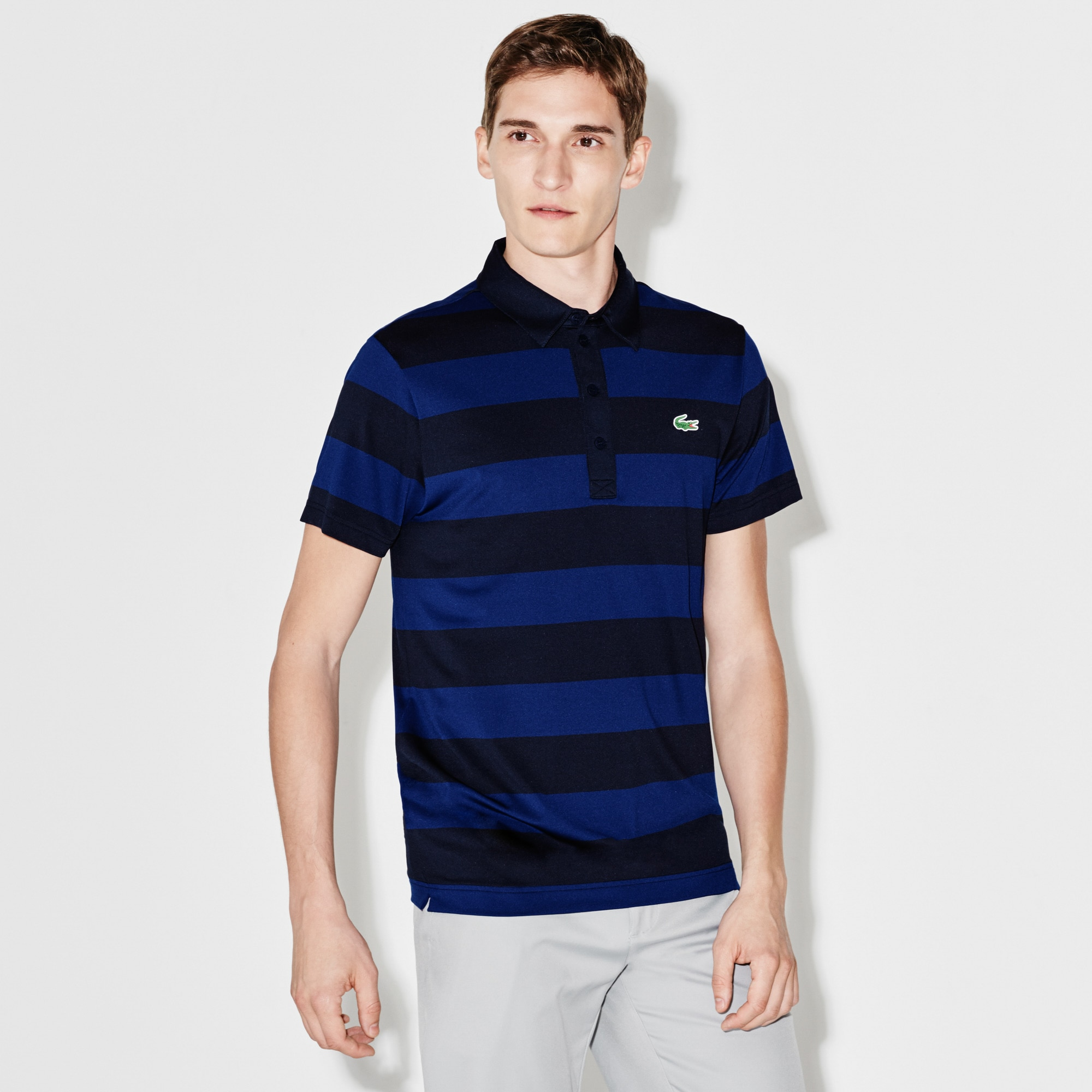 Men's  SPORT Golf Striped Stretch Tech Jersey Polo