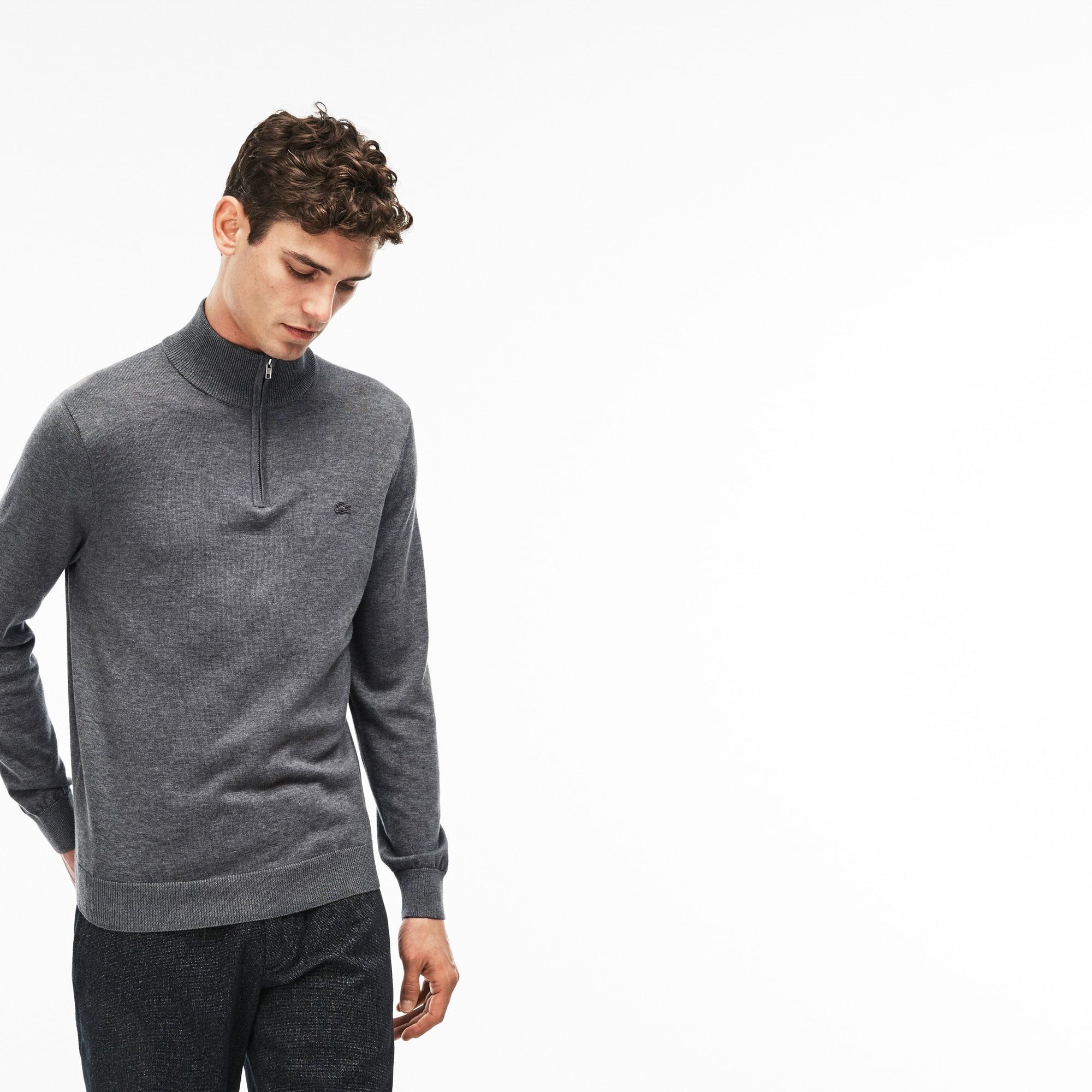 Men's Zip Jersey Sweater