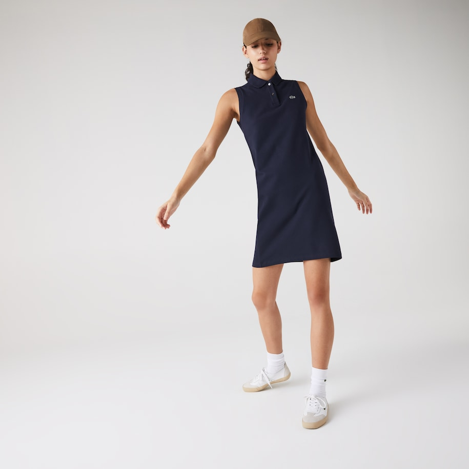 Women's Cotton Piqué Polo Dress
