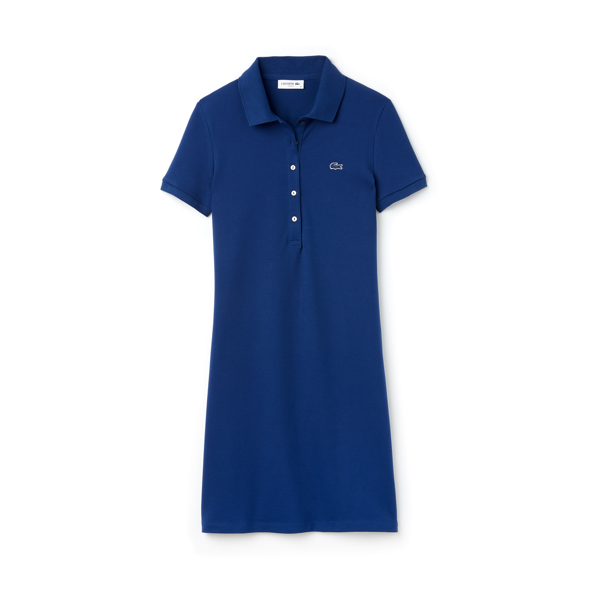 라코스테 피케 원피스 블루 Lacoste Womens Stretch Cotton Mini Pique Polo Dress,inkwell blue