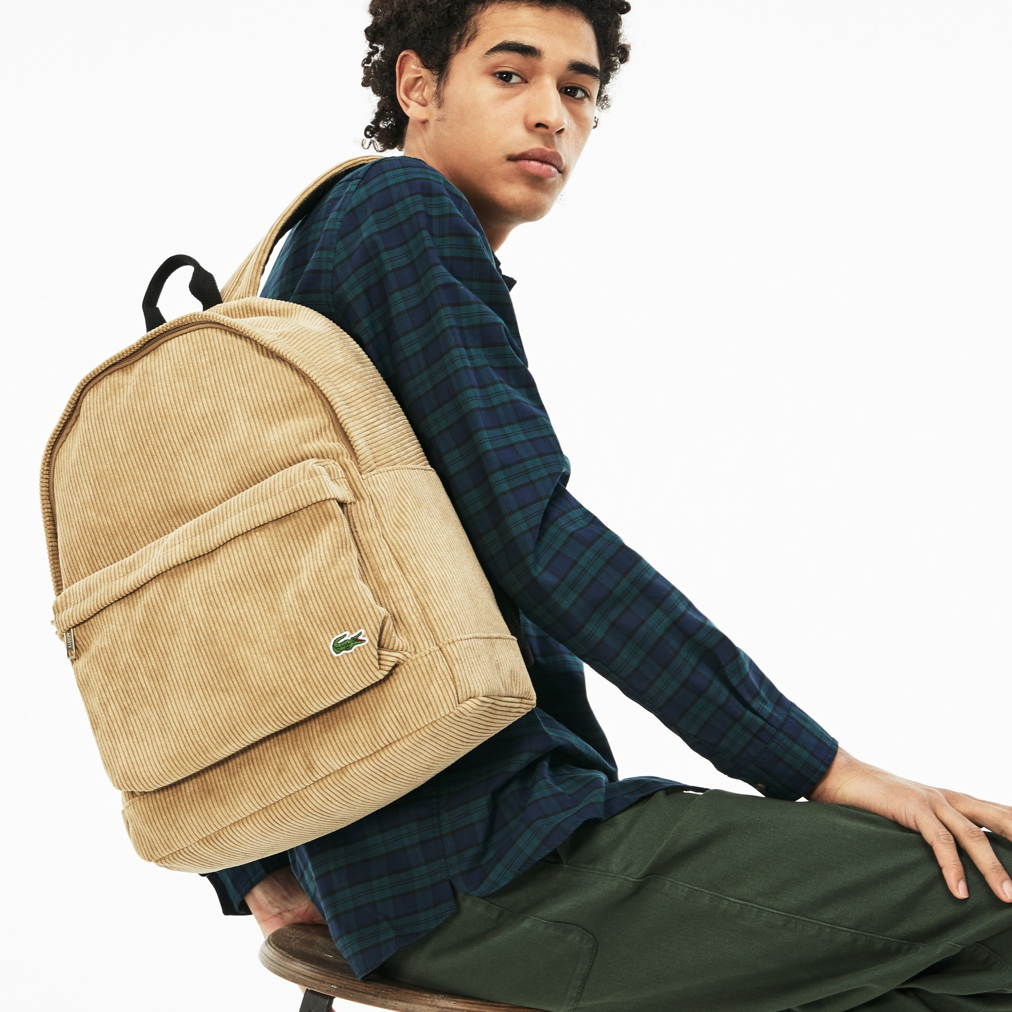 Men's Néocroc Corduroy Effect Canvas Backpack